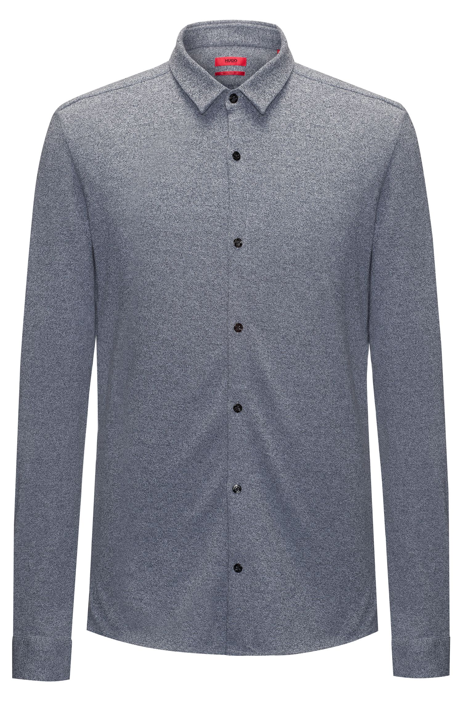 Heathered Cotton Jersey Sport Shirt, Extra Slim Fit | Ero W