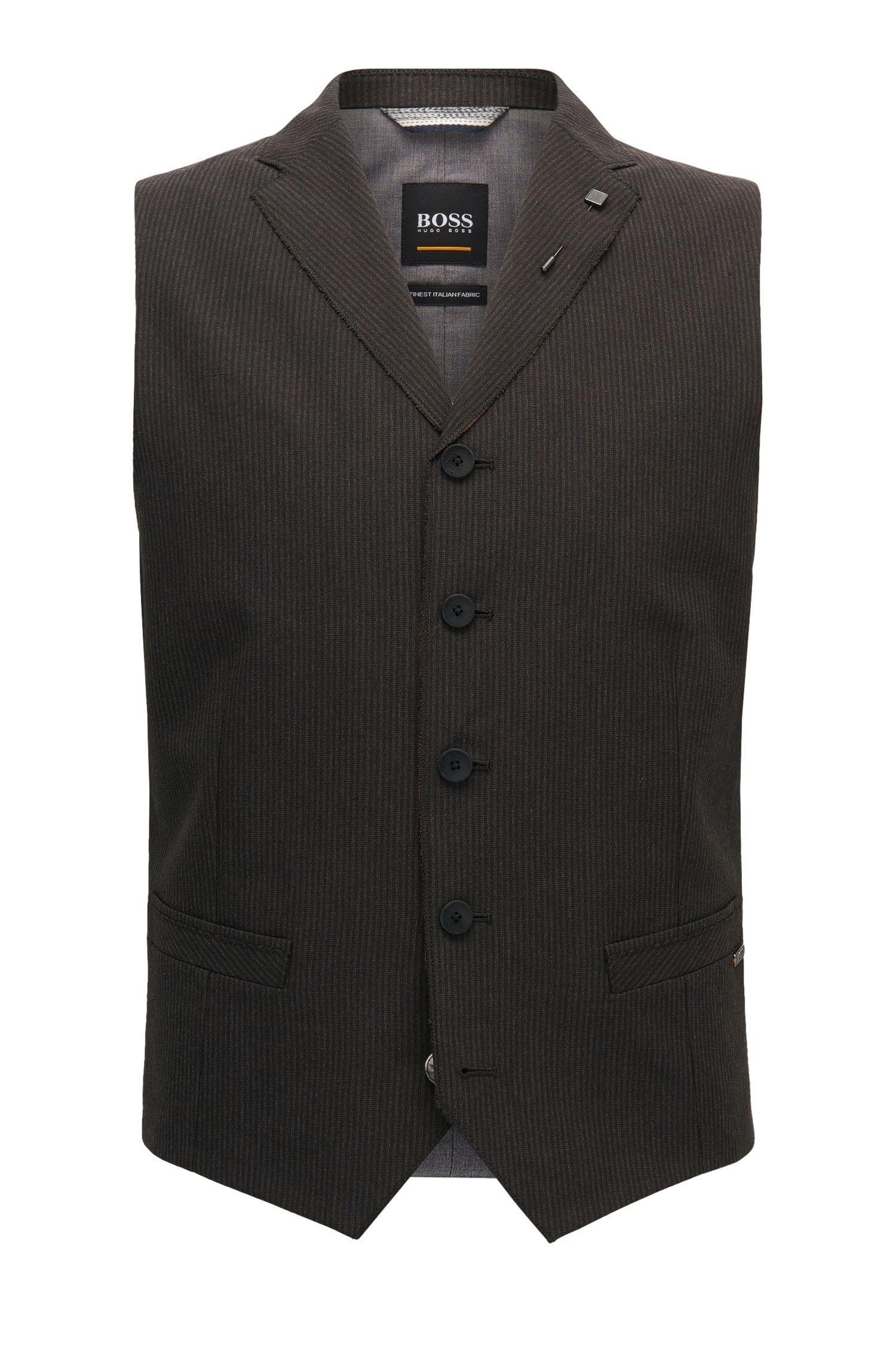 Pinstriped Italian Fabric Waistcoat | Bace BS