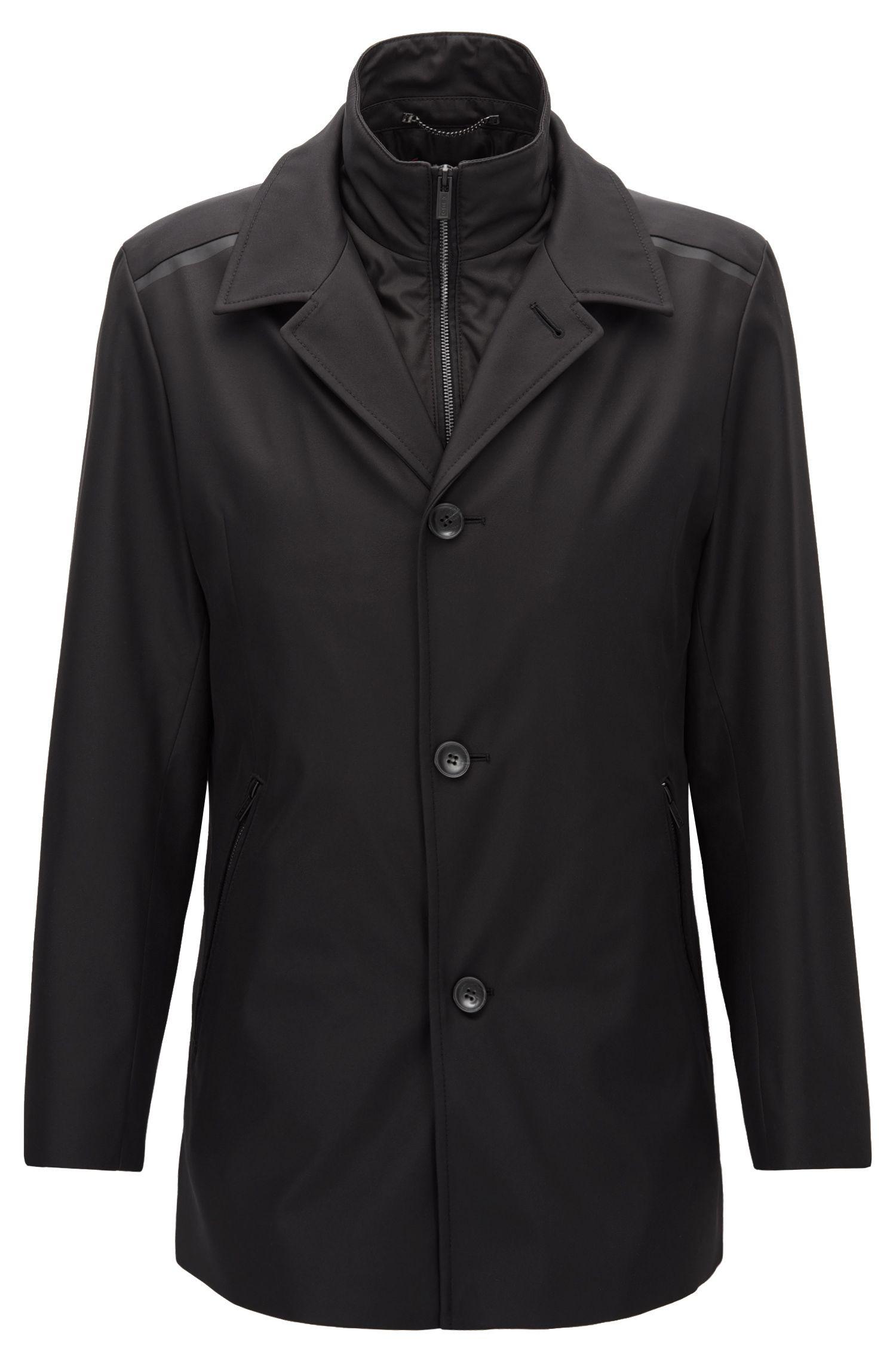 Lined Nylon Jacket | Barelto, Black