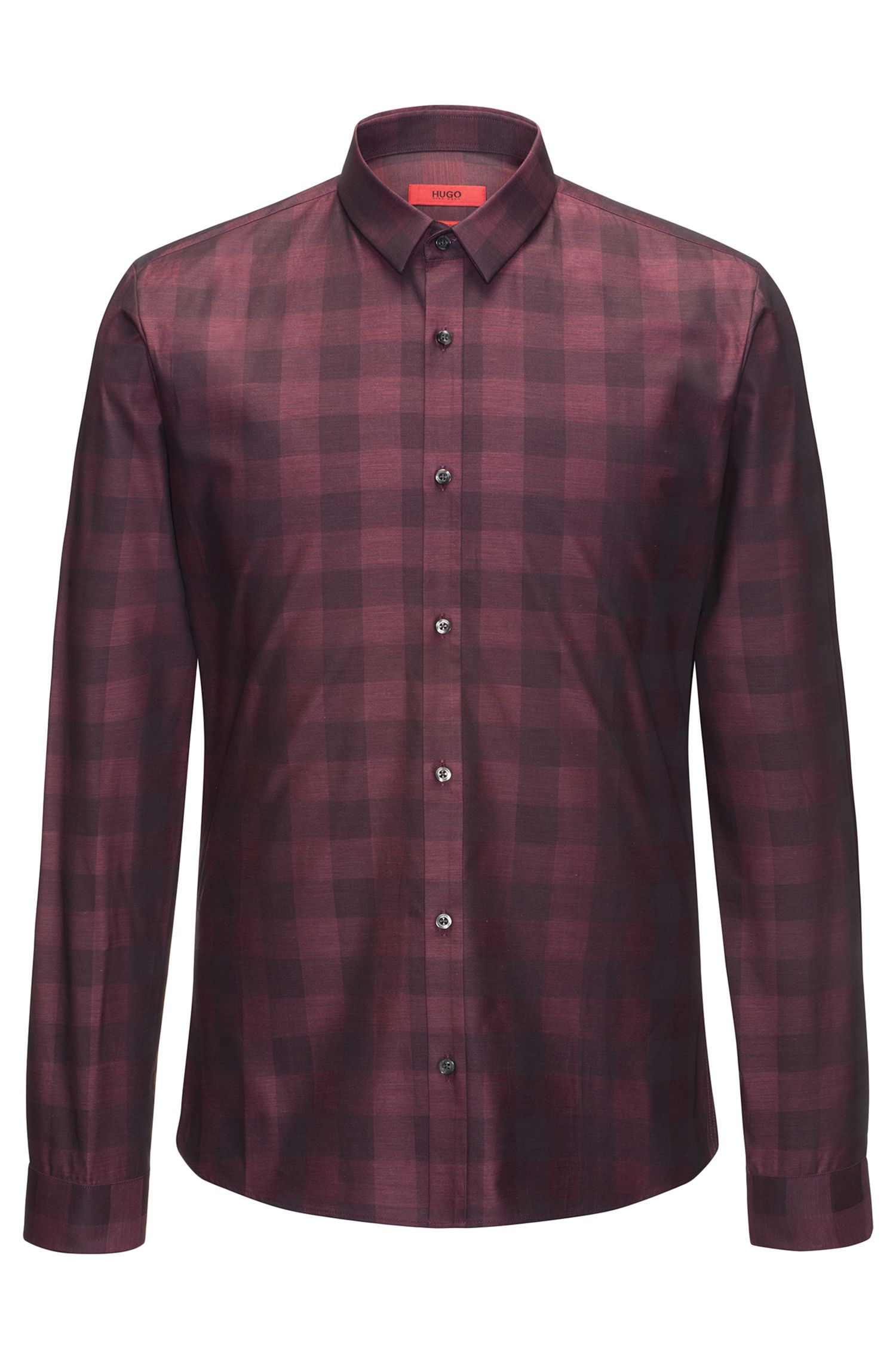 Gingham Cotton Sport Shirt, Extra Slim Fit | Ero