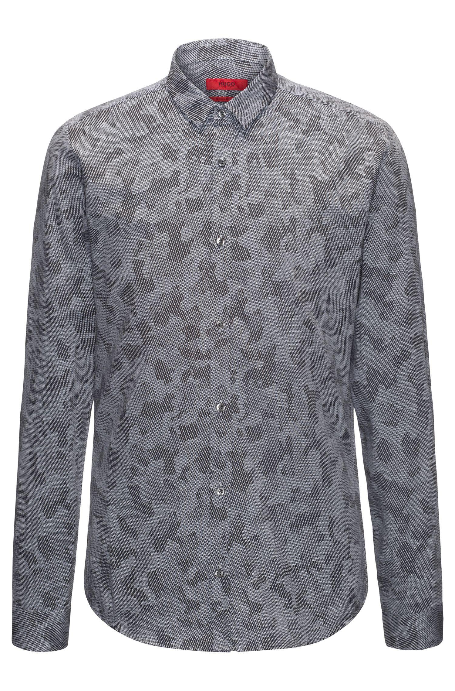 Camo-Twill Cotton Sport Shirt, Extra Slim Fit | Ero W