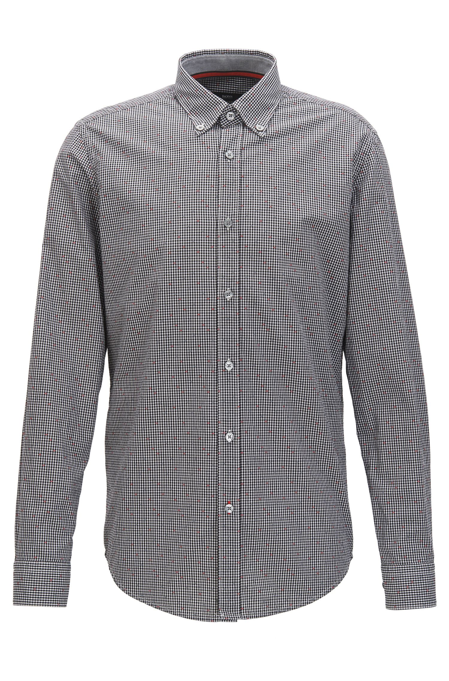Patterned Cotton Sport Shirt, Regular Fit | Lod