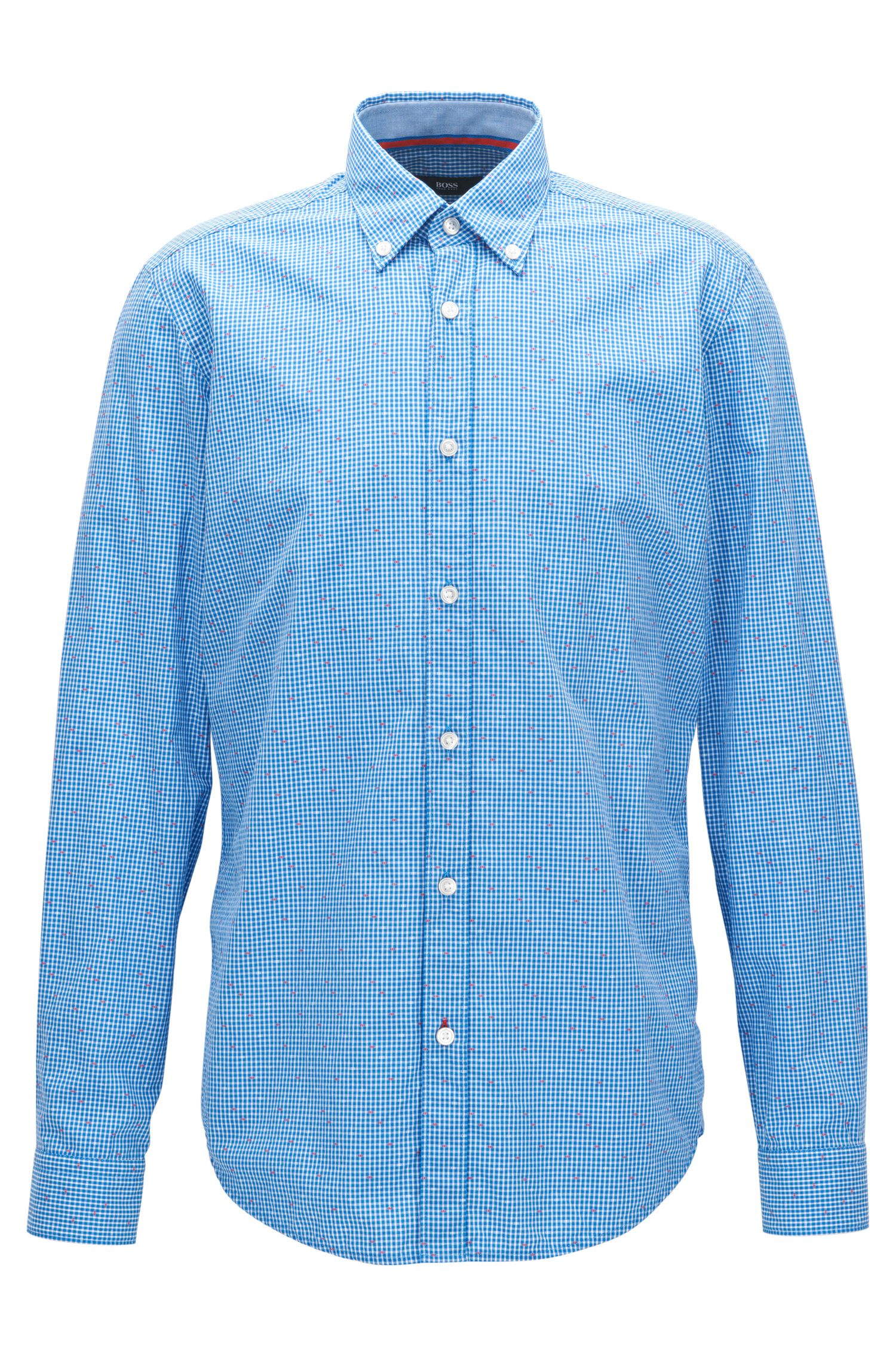 Patterned Cotton Sport Shirt, Regular Fit | Lod