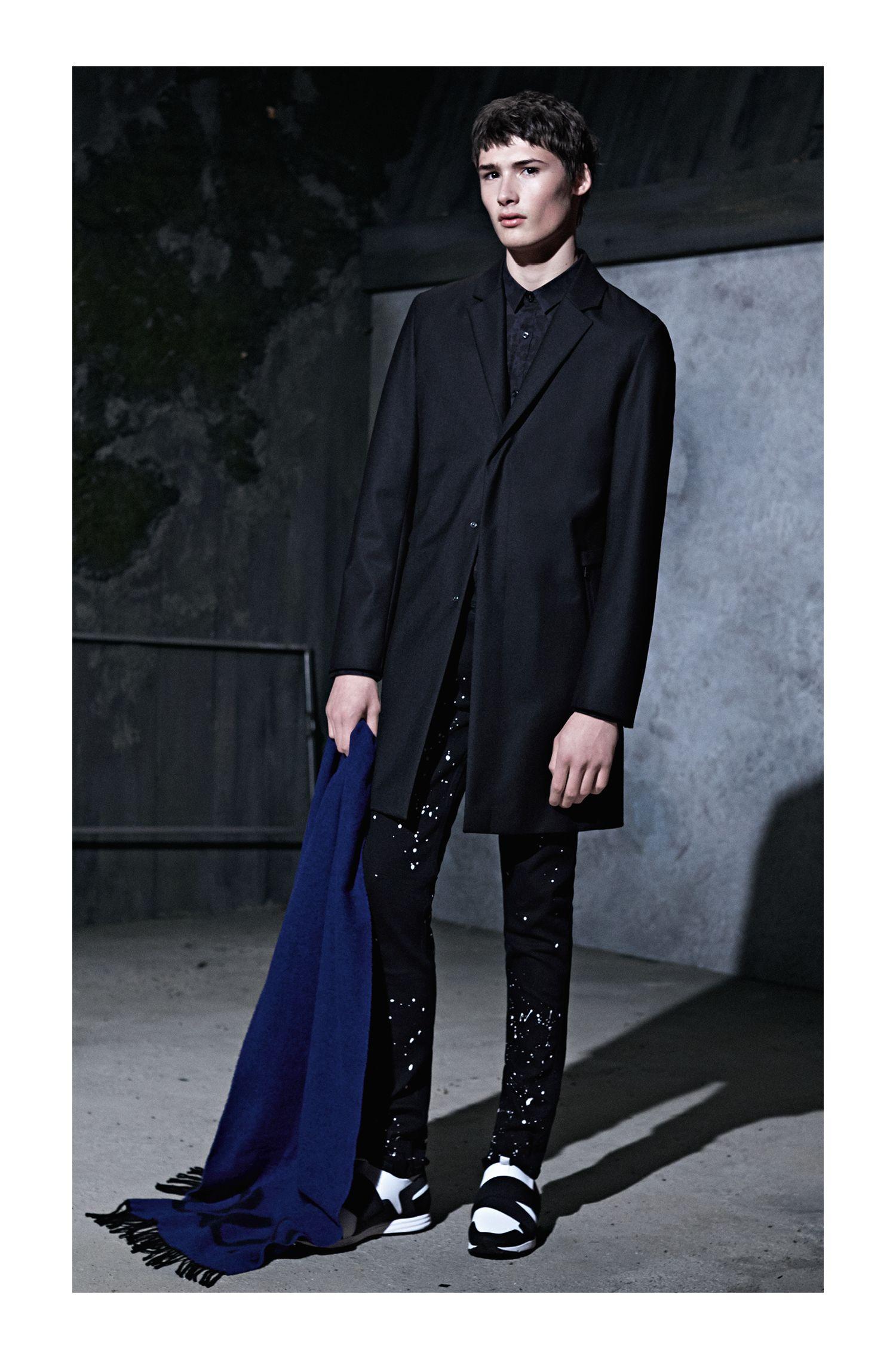 Rorschach-Print Cotton Sport Shirt, Extra Slim Fit | Ero