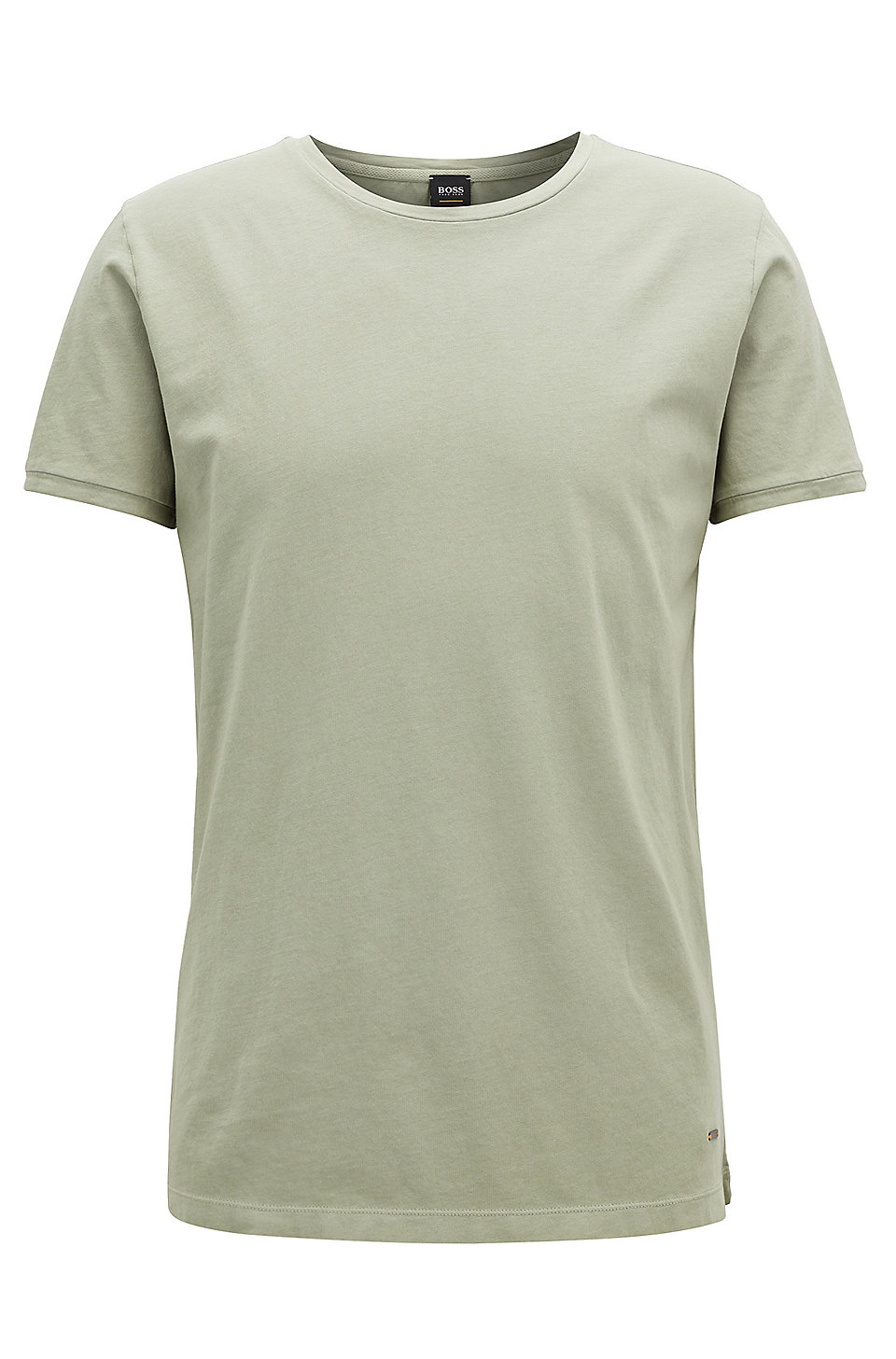 73e68d68 BOSS - Regular-fit garment-dyed T-shirt in cotton