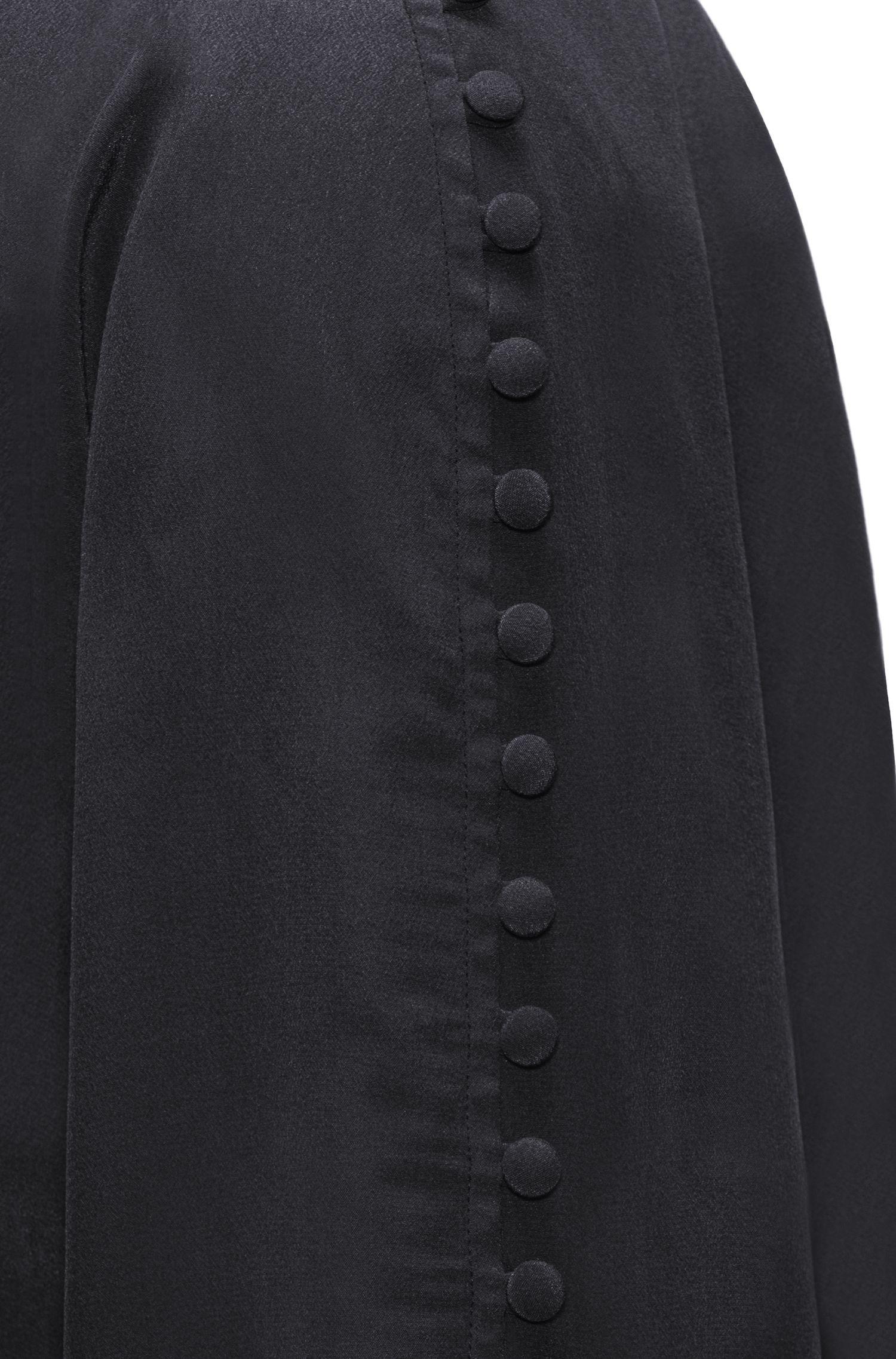 Buttoned Silk Blouse | Emitis, Black