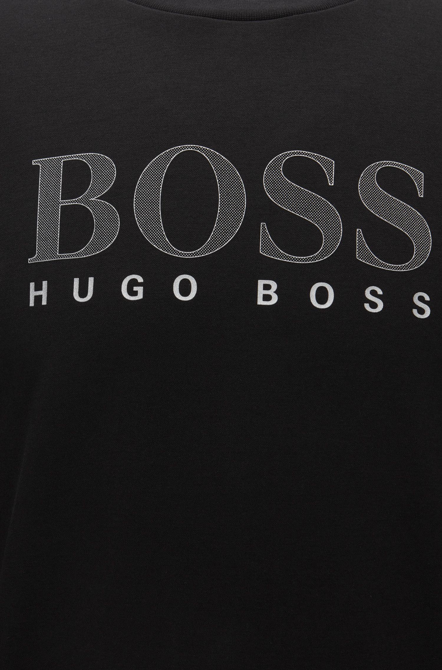 Logo Cotton Blend Jersey Sweatshirt | Tracksuit Sweatshirt, Black