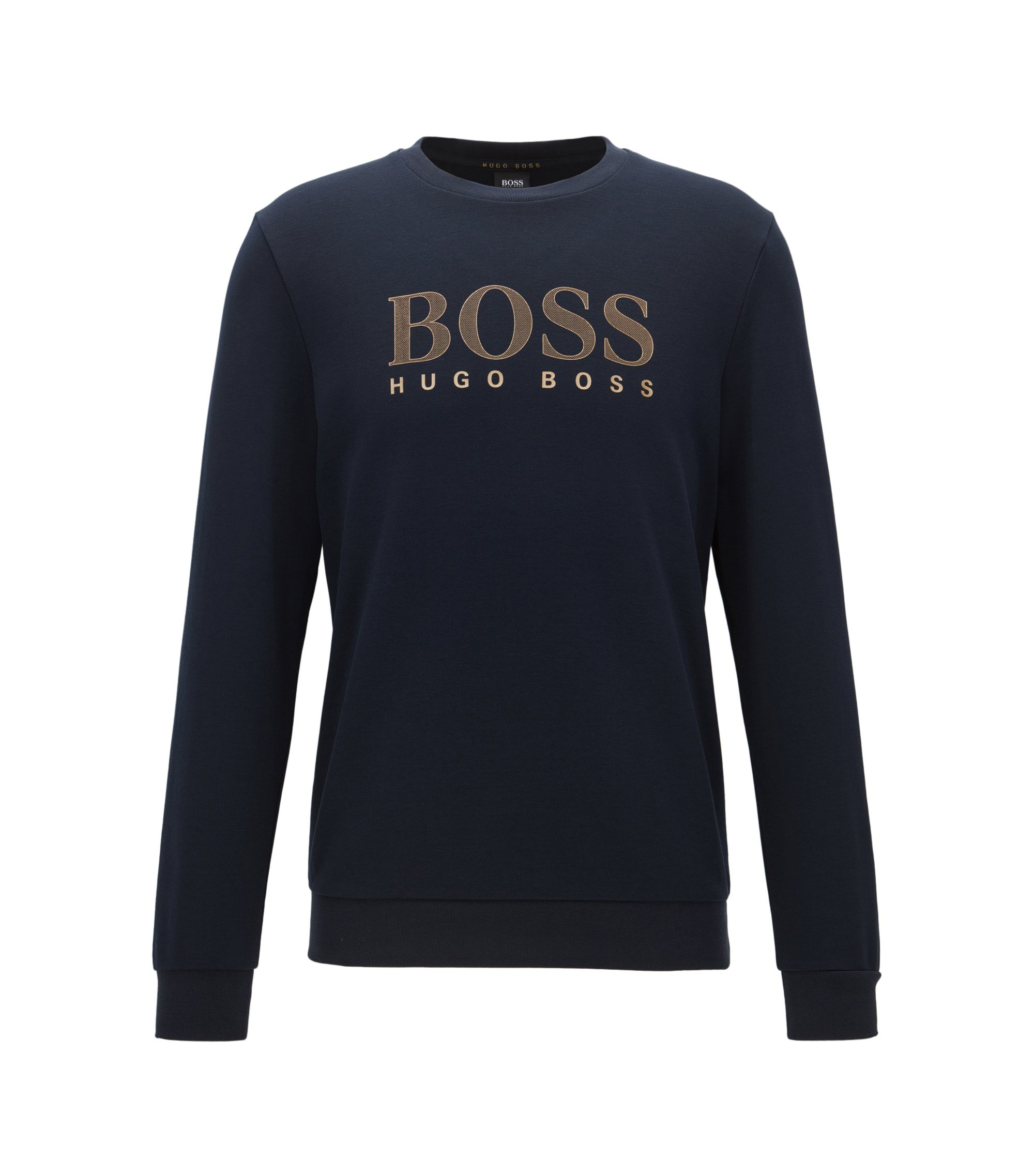 Logo Cotton Blend Jersey Sweatshirt | Tracksuit Sweatshirt, Dark Blue