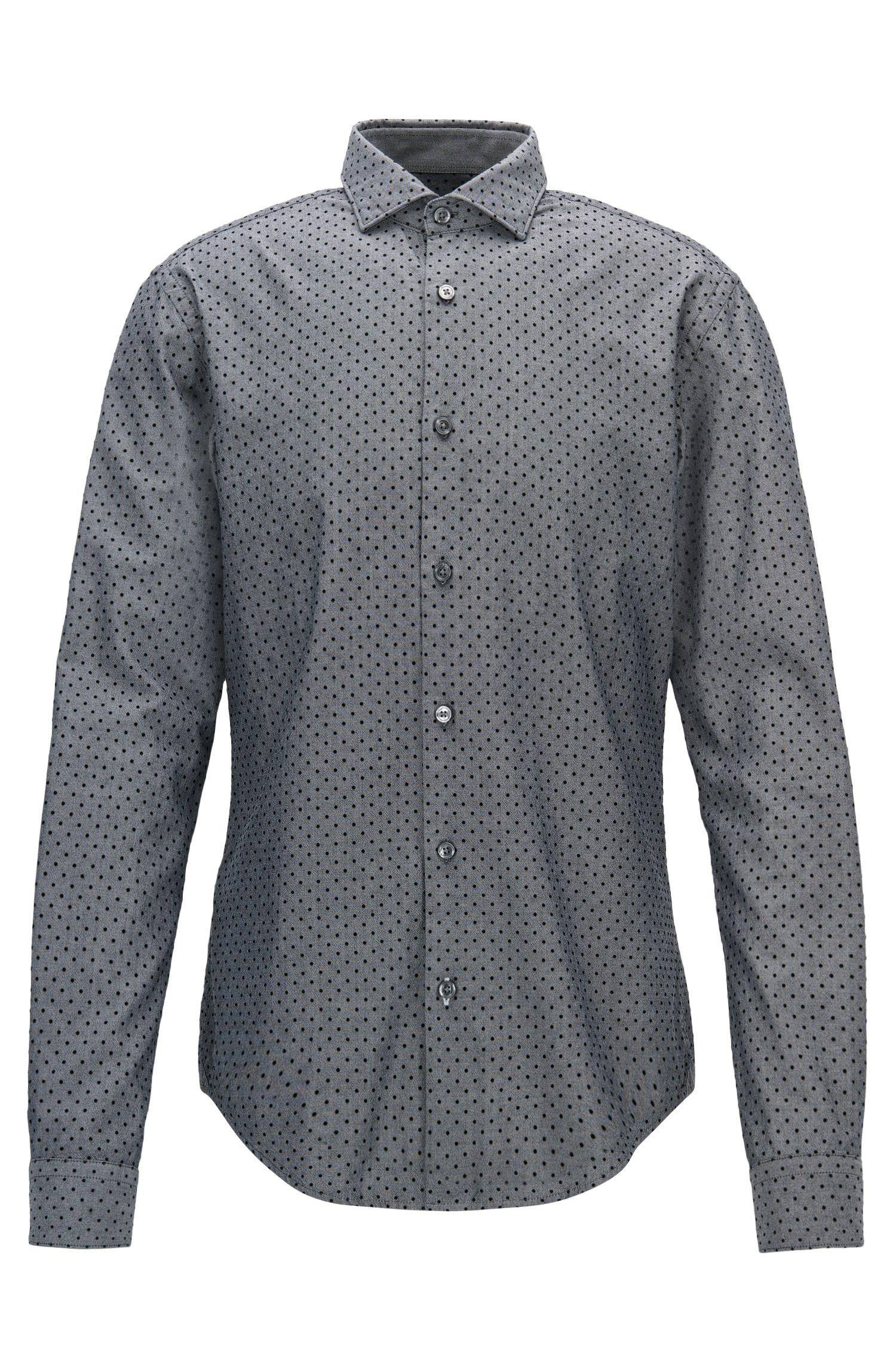 Polka Dot Sport Shirt, Slim Fit | Ridley F