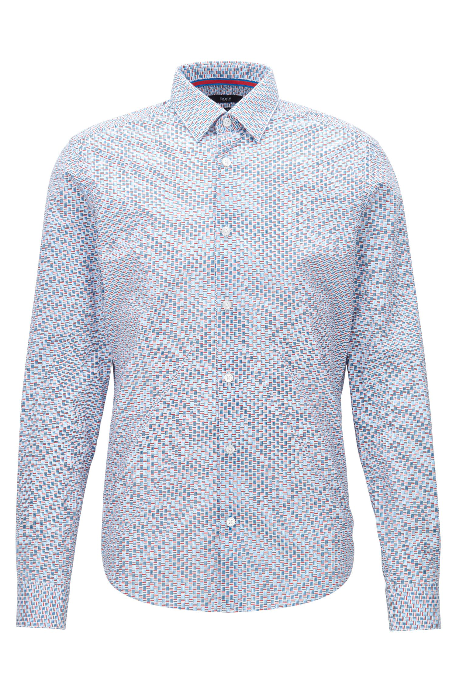 Basketweave Stretch Cotton Sport Shirt, Regular Fit | Lance F