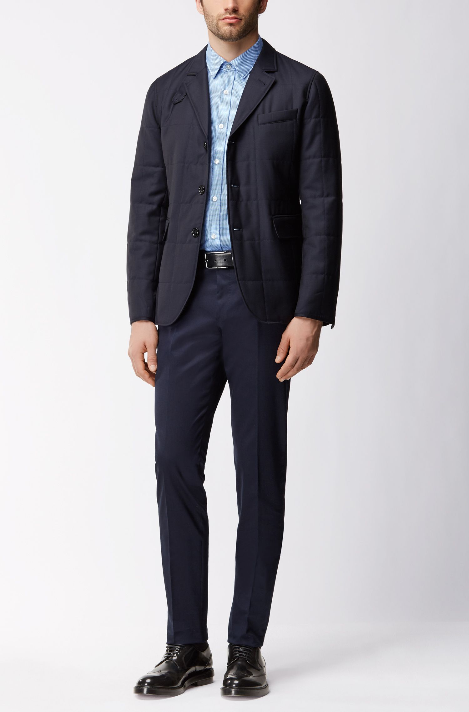 Nailhead Cotton Sport Shirt, Regular Fit | Luka