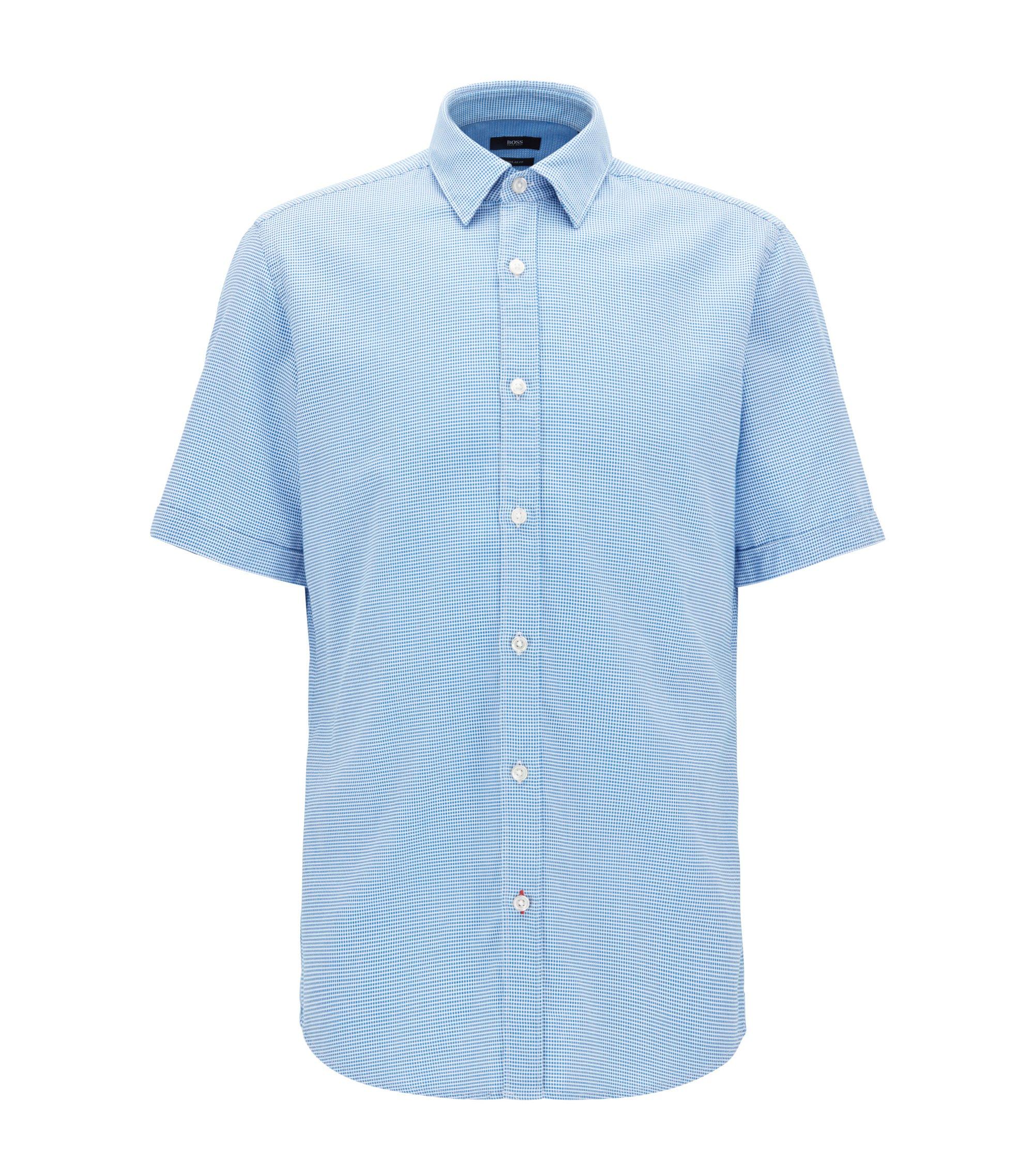 Nailhead Cotton Sport Shirt, Regular Fit | Luka, Blue