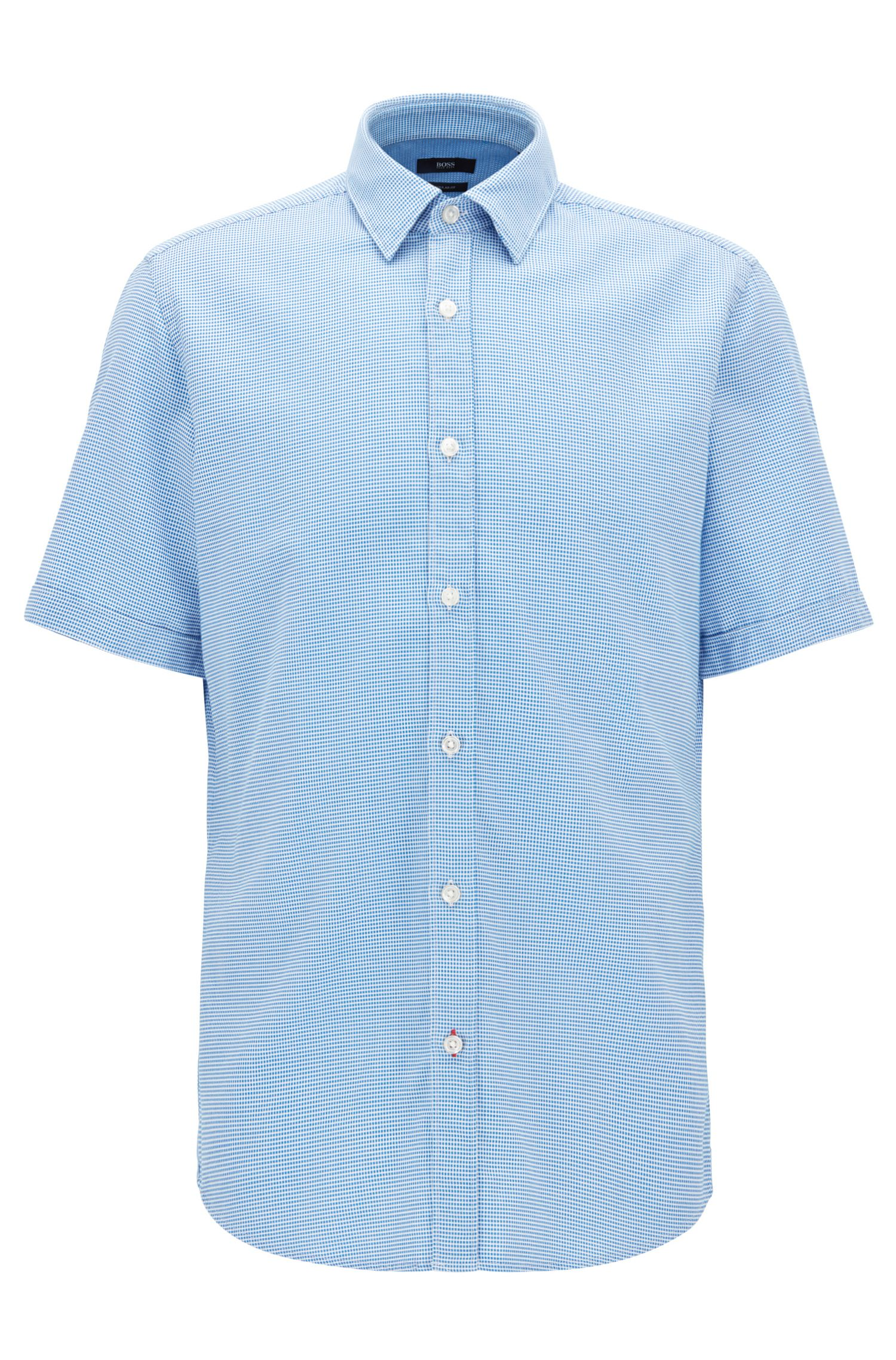 Nailhead Cotton Sport Shirt, Regular Fit | Luka