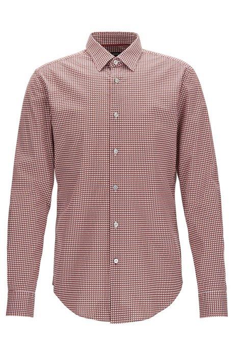 11860a01ad8 BOSS - Geometric Stretch Cotton Sport Shirt, Slim Fit | Ronni F