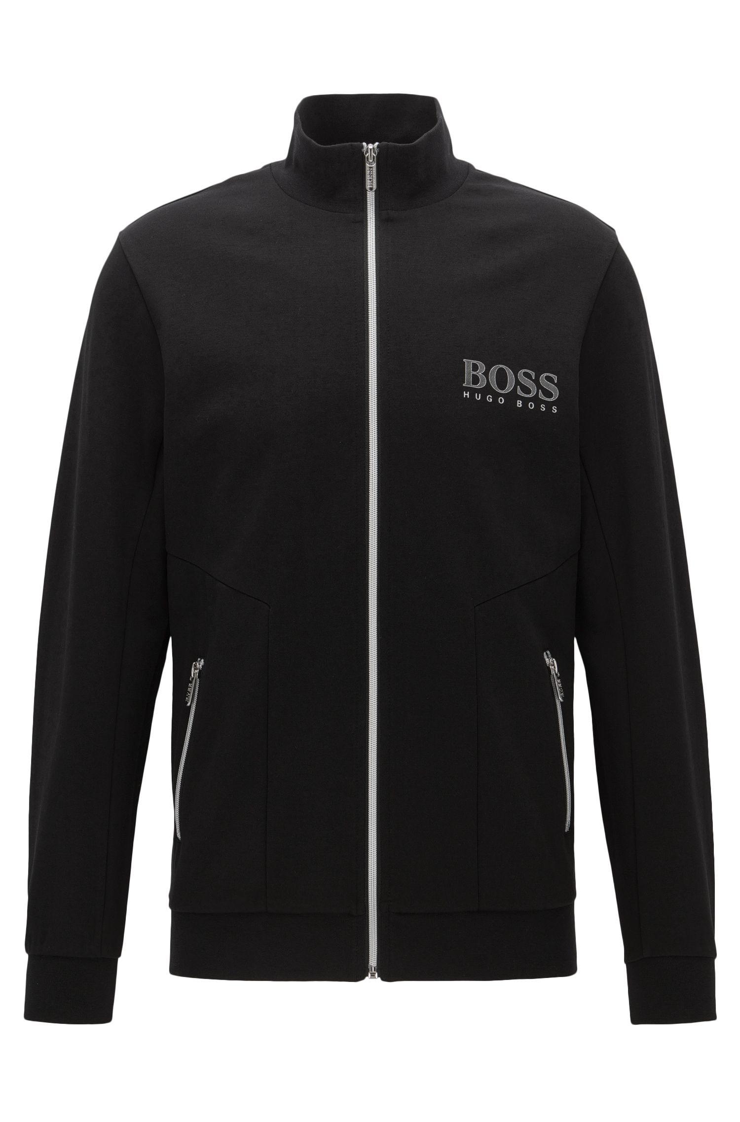 Stretch Cotton Jersey Full-Zip Jacket | Tracksuit Jacket