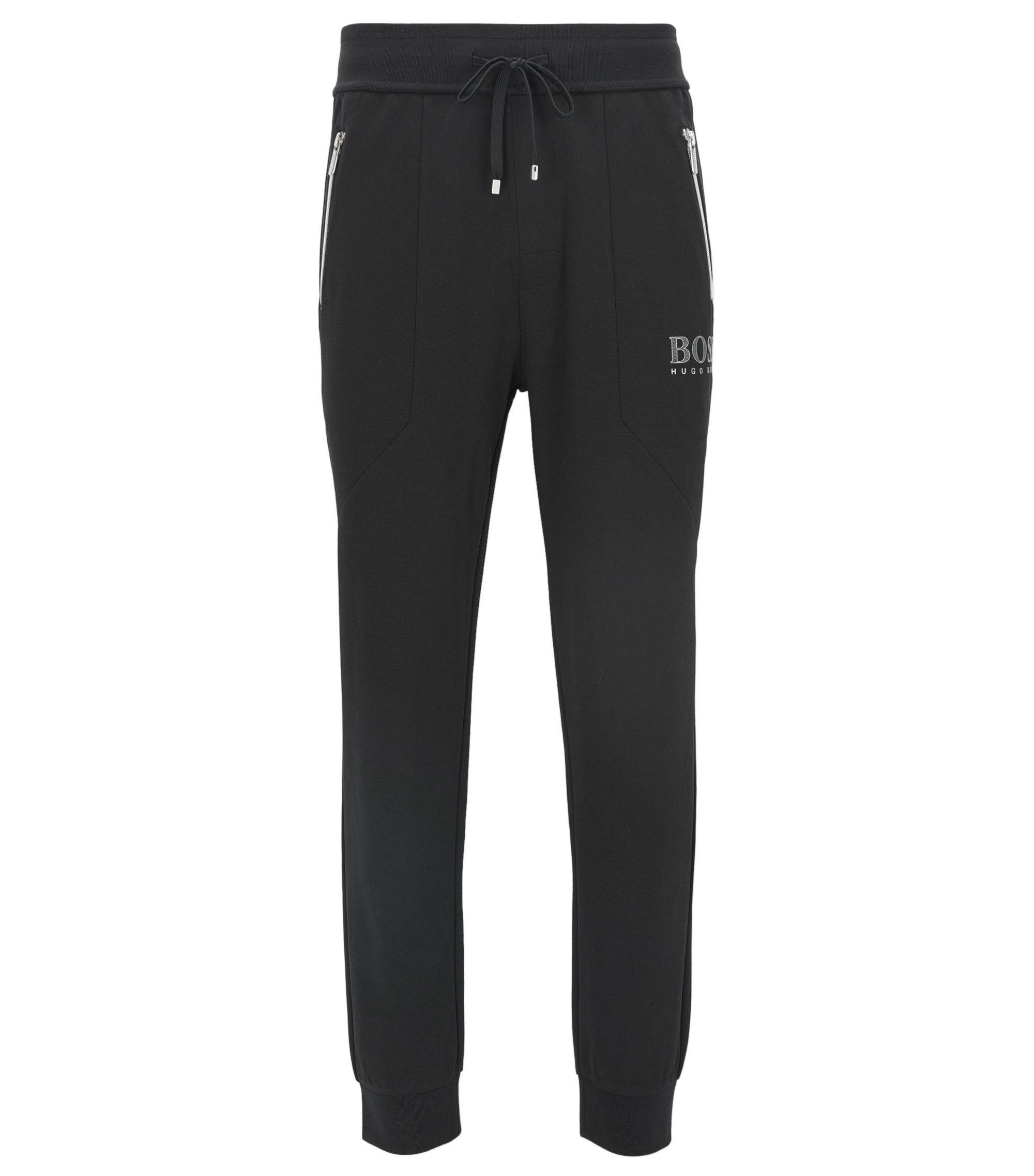 Stretch Cotton Jersey Pant | Tracksuit Pant , Black