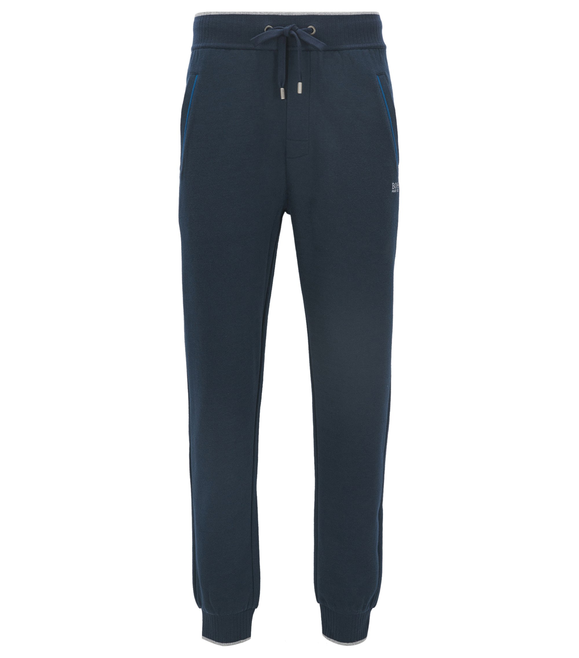 Piped Cotton Blend Jersey Lounge Pant   Authentic Pant, Dark Blue