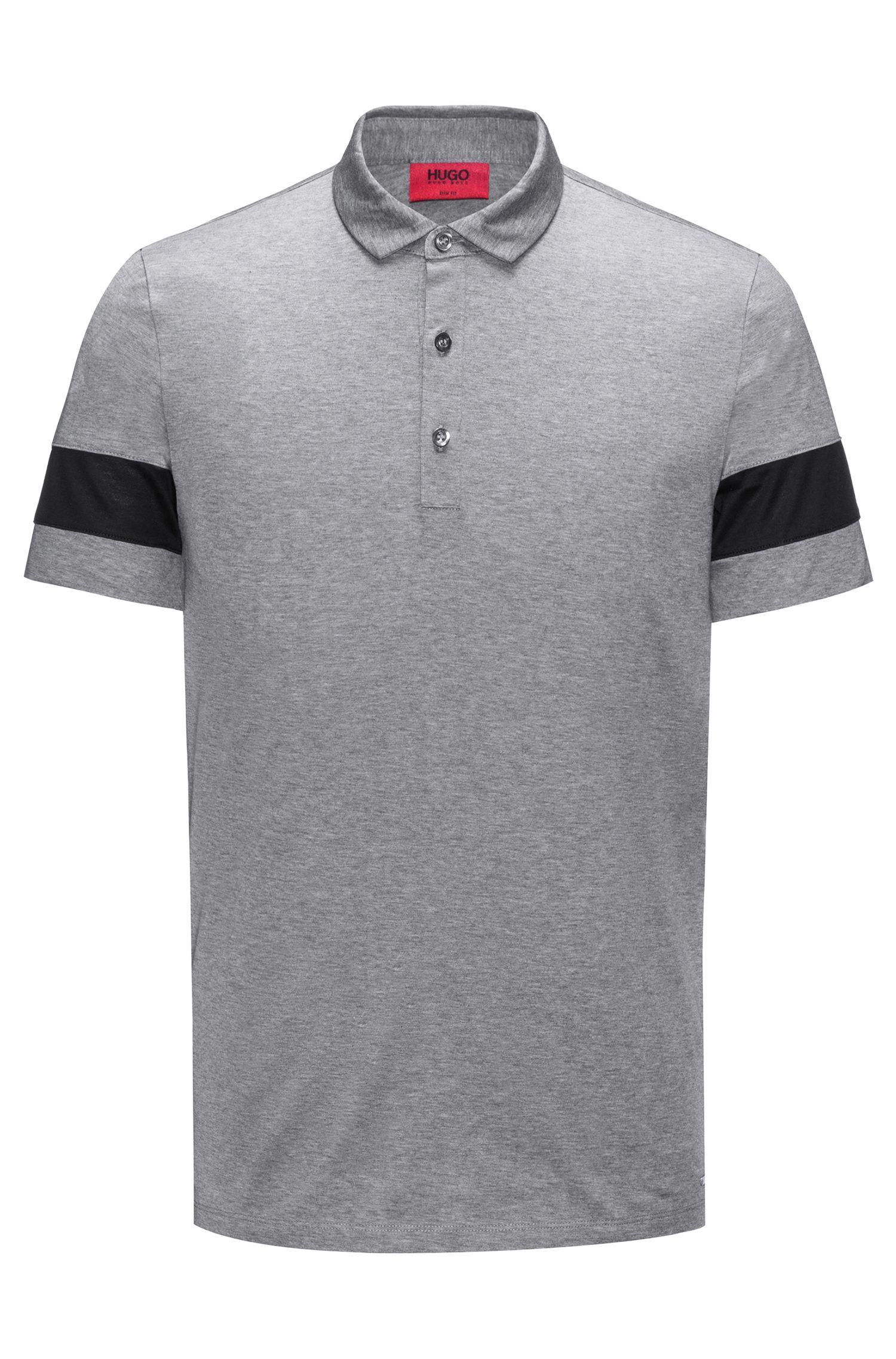 Thick-Striped Mercerized Cotton Polo Shirt, Slim Fit | Drooks