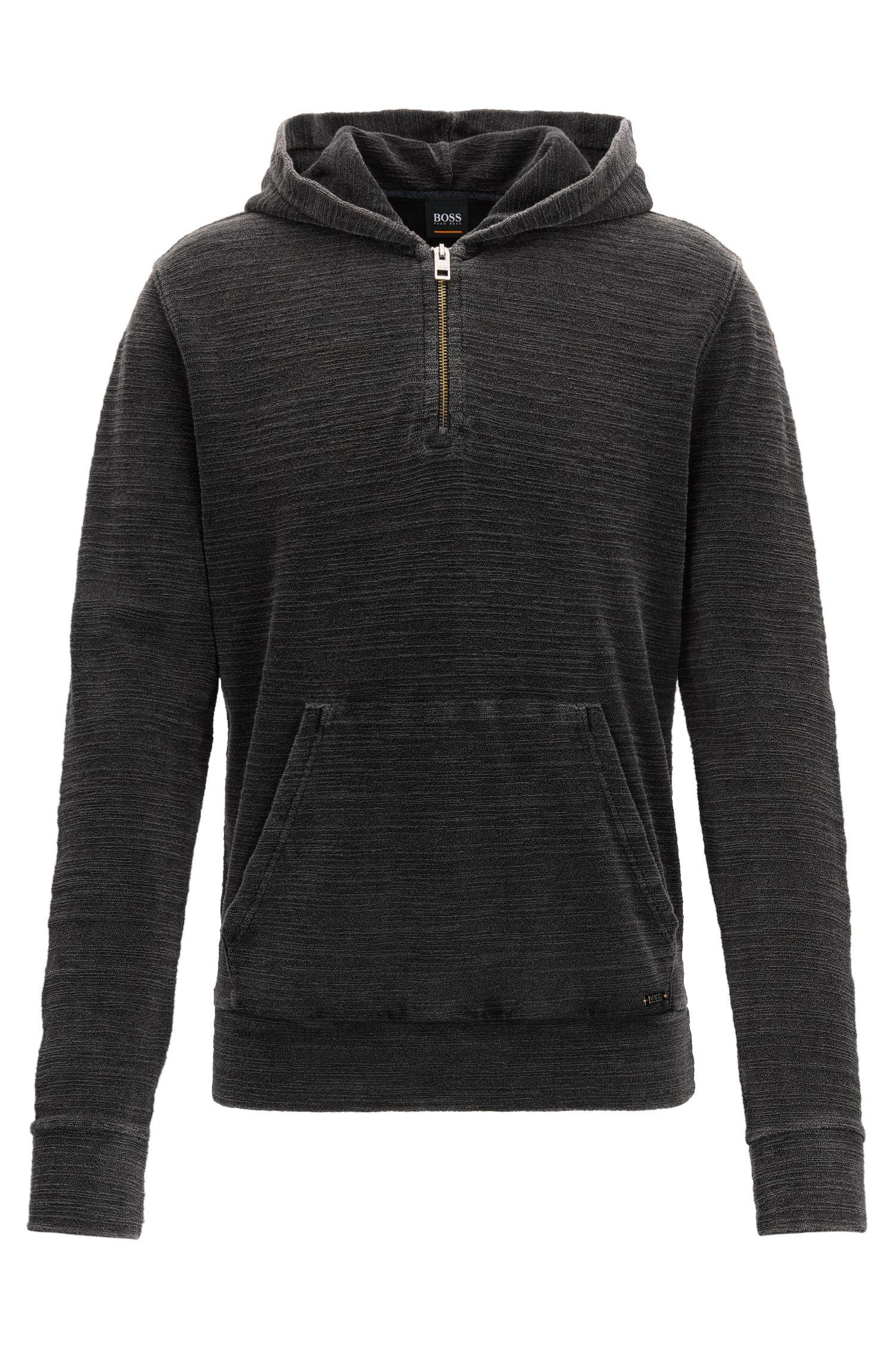 Yarn-Dyed Hoodie | Zleek , Black