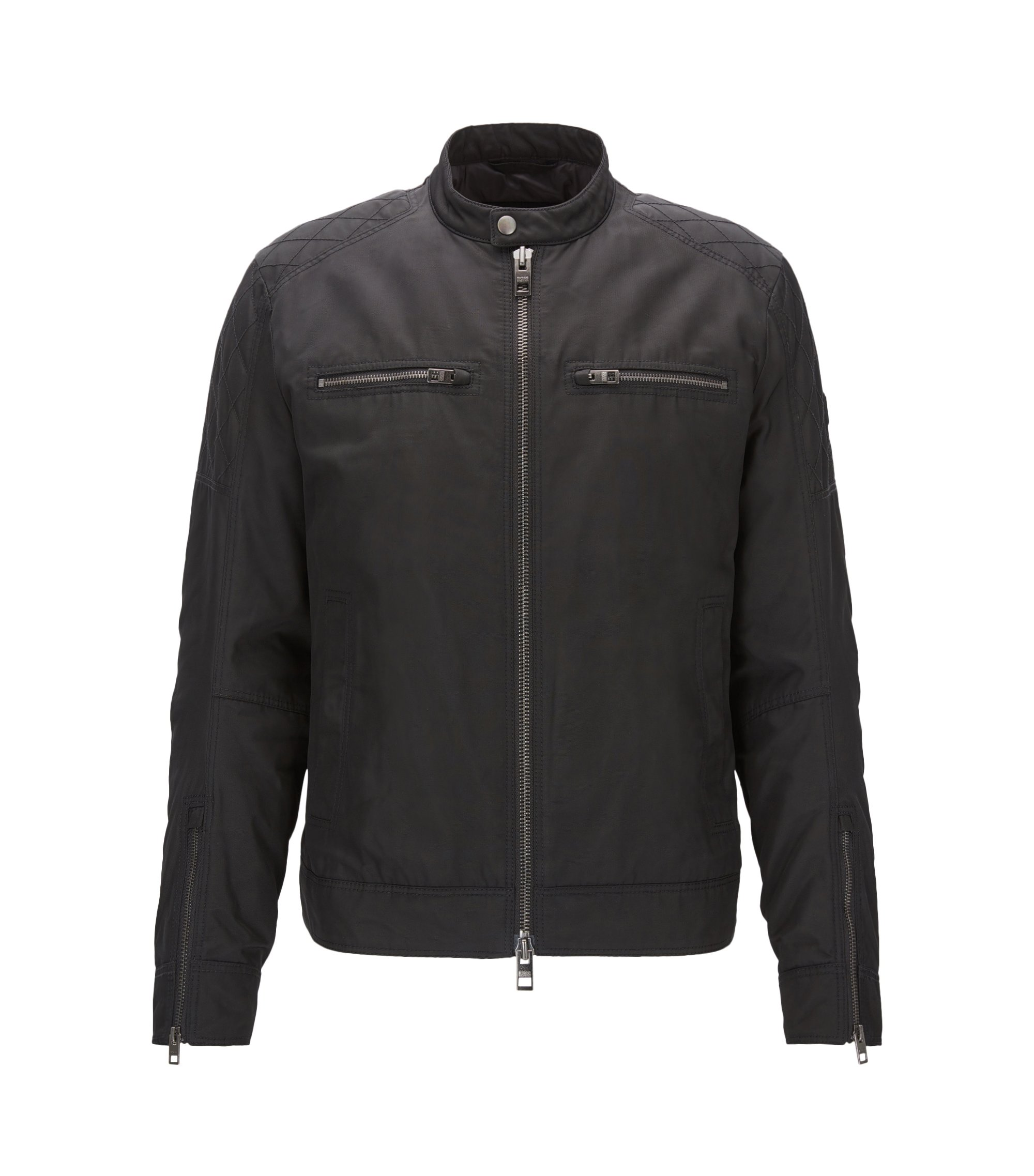 Thermo-Insulated Waxed Canvas Jacket | Ojeepo, Black