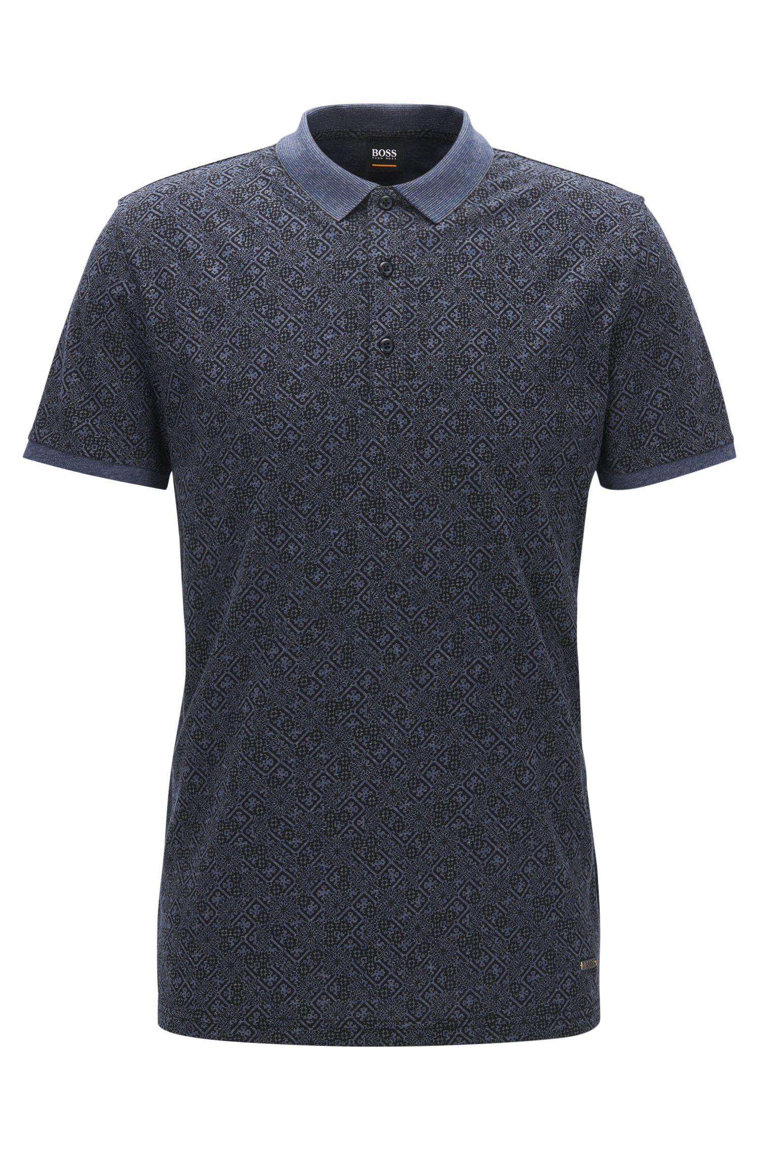 Tile Jacquard Polo Shirt, Regular Fit | Pattern