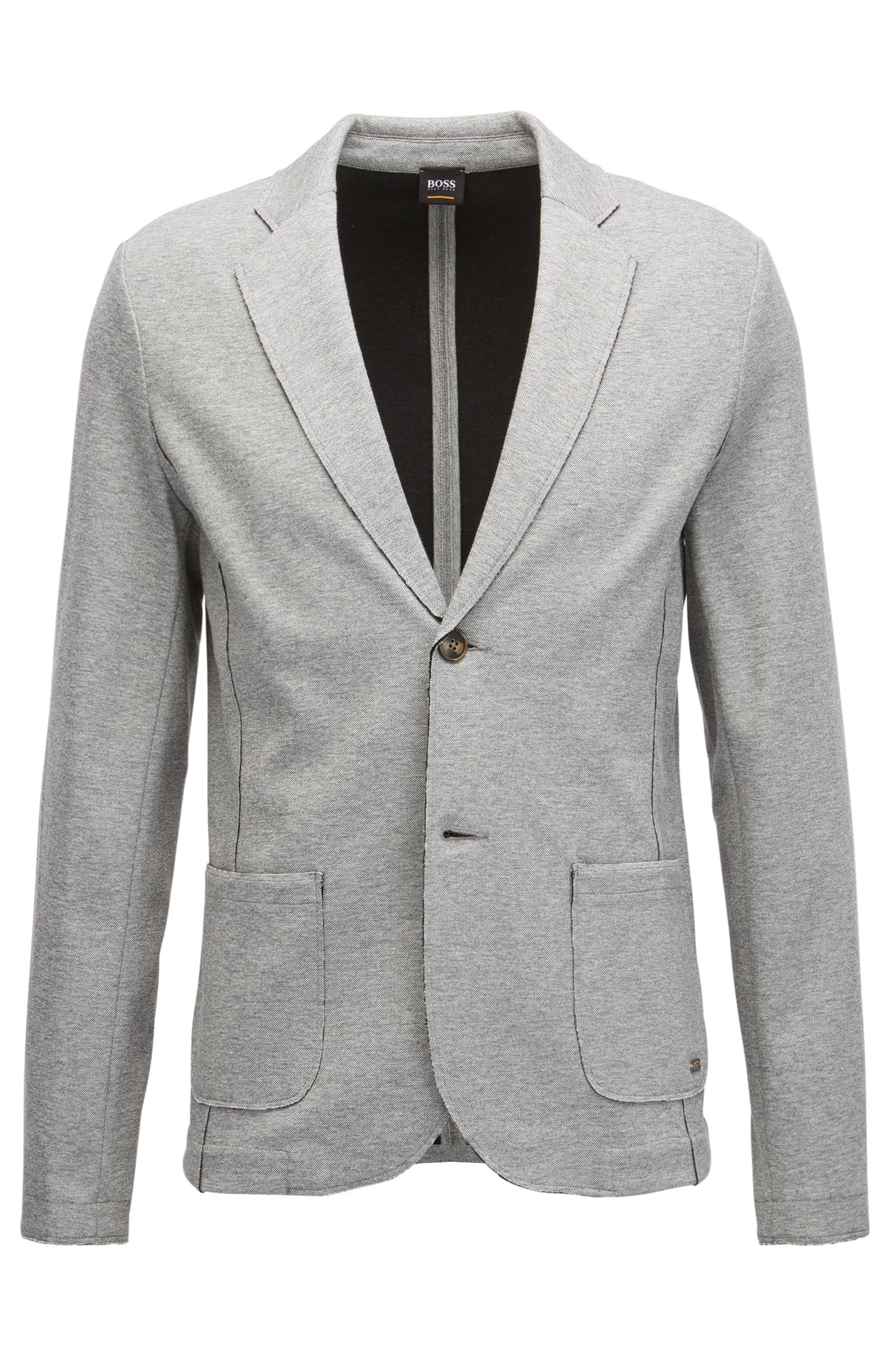 Jersey Blend Sport Coat, Regular Fit | Wacante, Light Grey