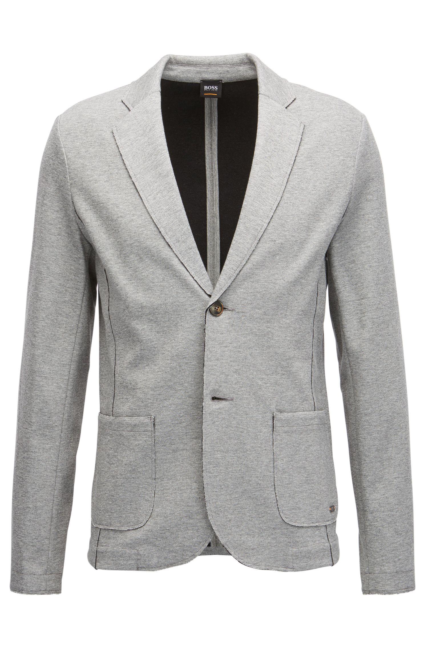 Jersey Blend Sport Coat, Regular Fit   Wacante