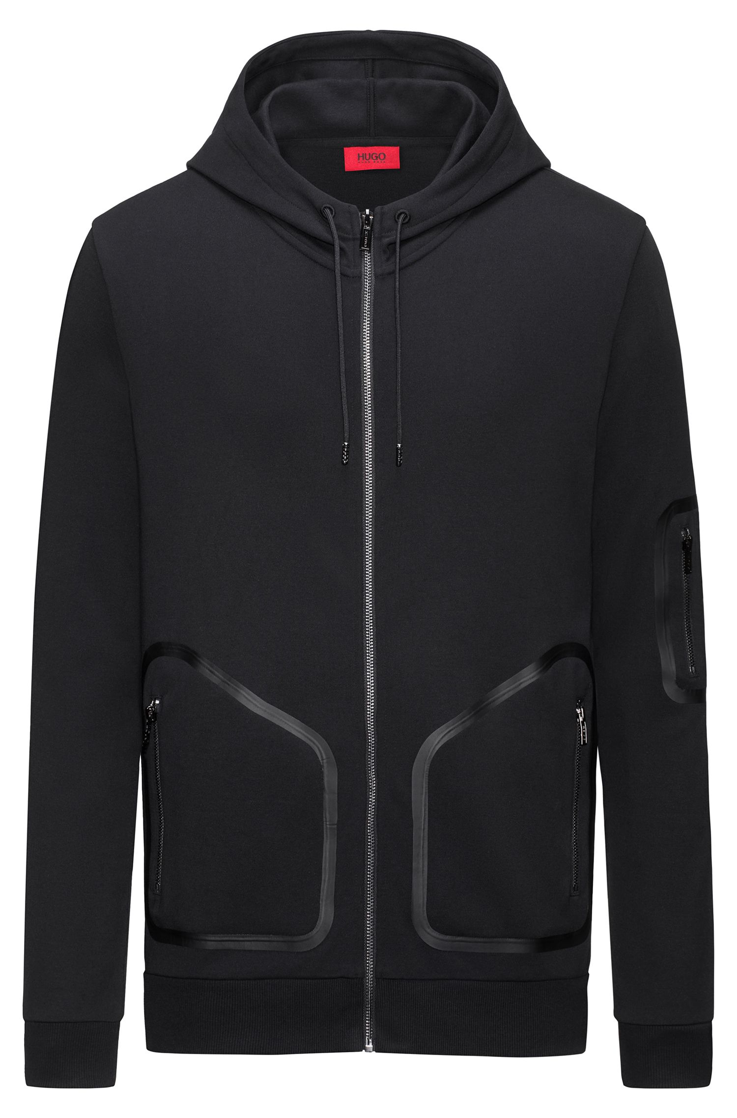 Rubber-Taped Cotton Hoodie | Deatty