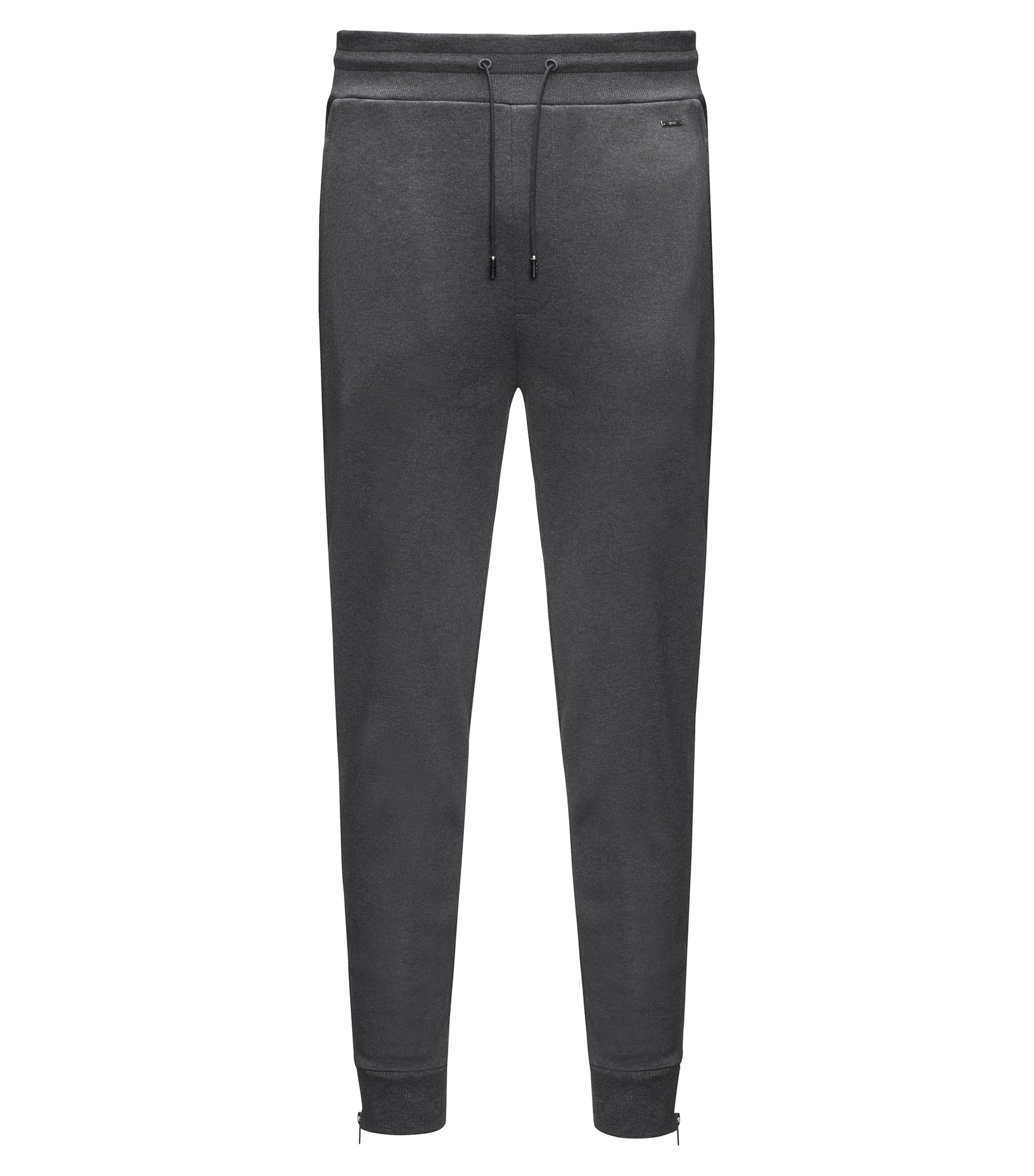 Interlock Cotton Track Pant | Dewis, Dark Grey