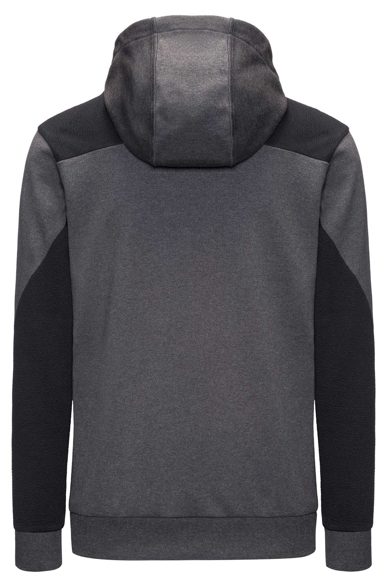 Two-Tone Jersey Cotton Hoodie | Dason