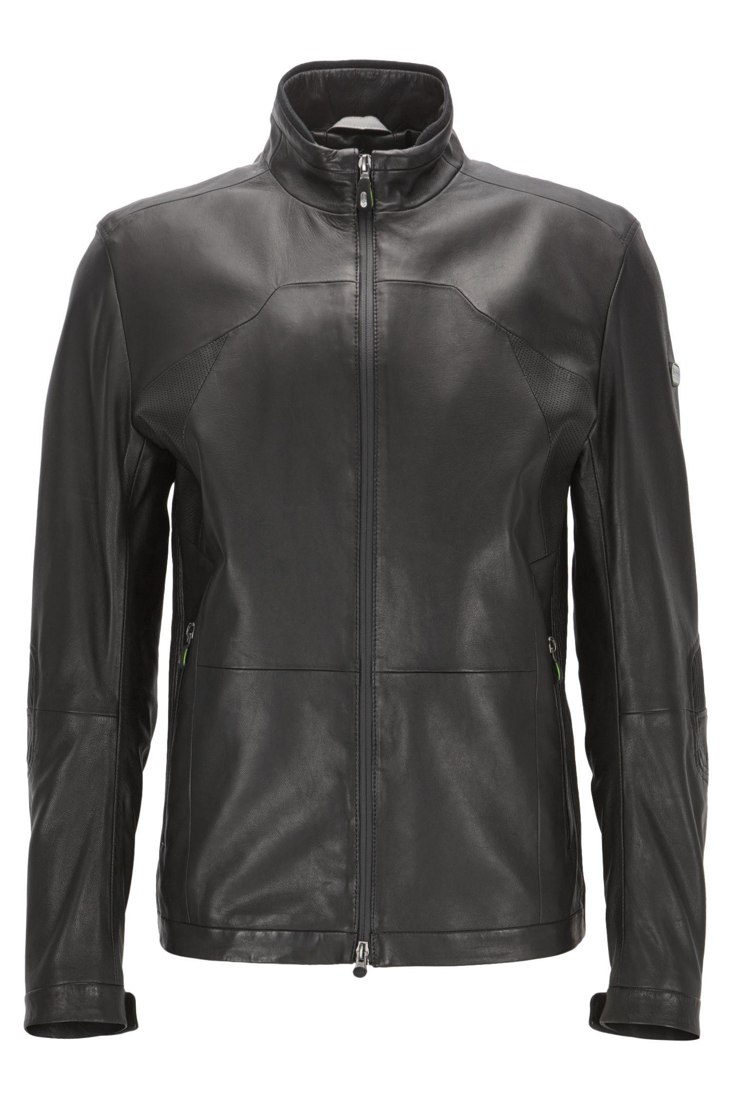 Lamb Leather Jacket | Joulon, Black