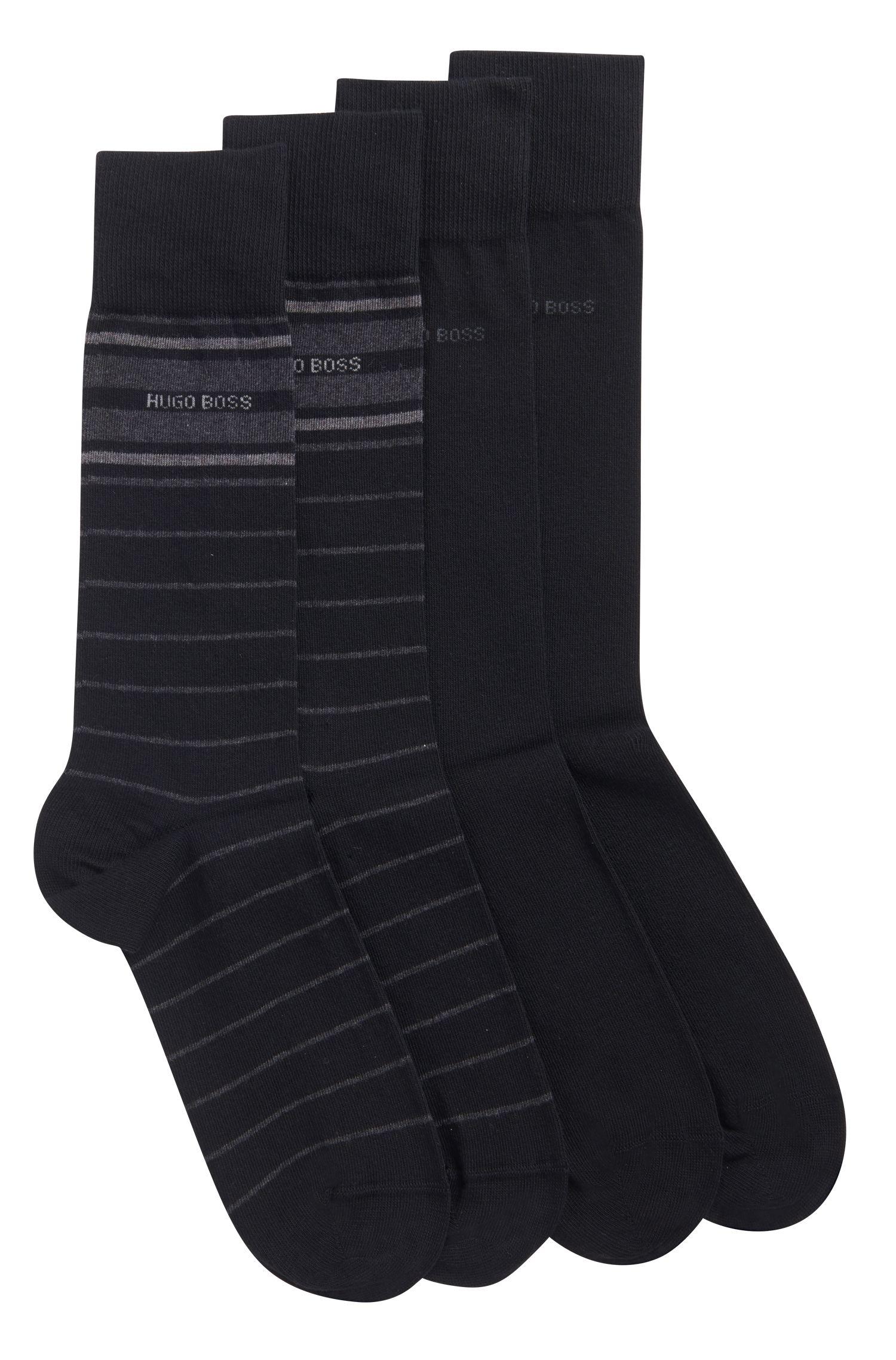 Stretch Cotton Socks, 2 Pack | 2P RS Stripe US CC