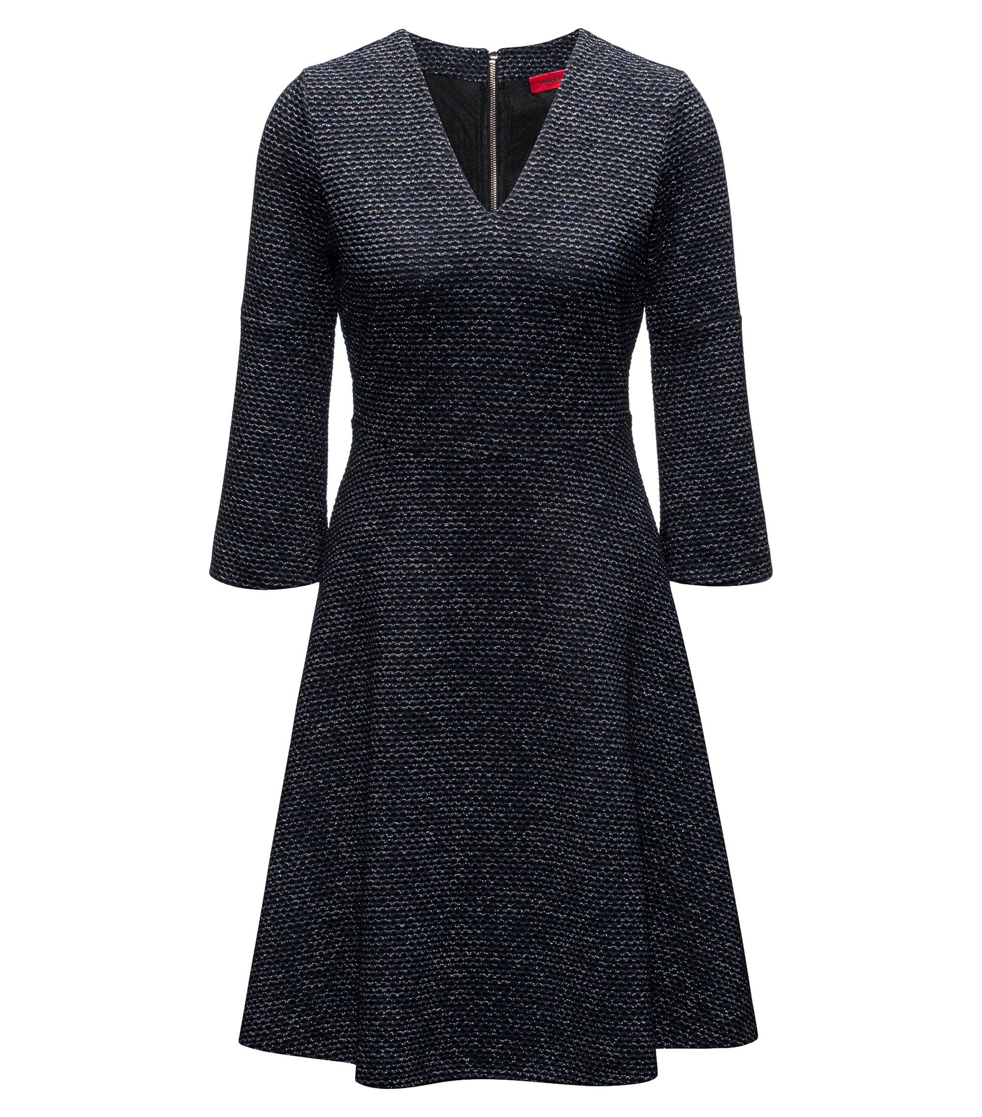 Metallic Knit Dress | Dicenia, Dark Blue