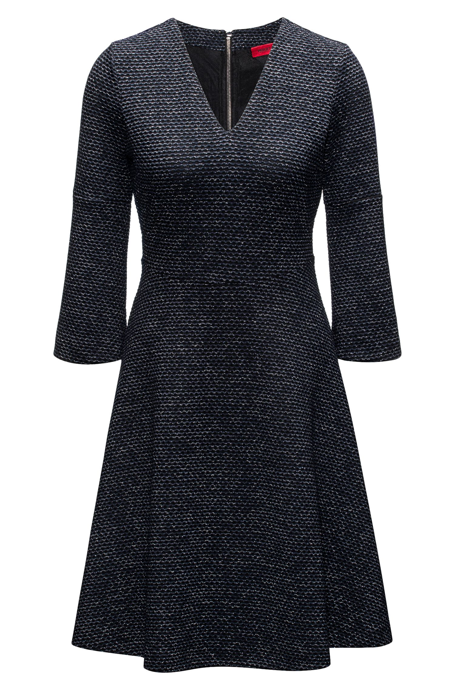 Metallic Knit Dress | Dicenia
