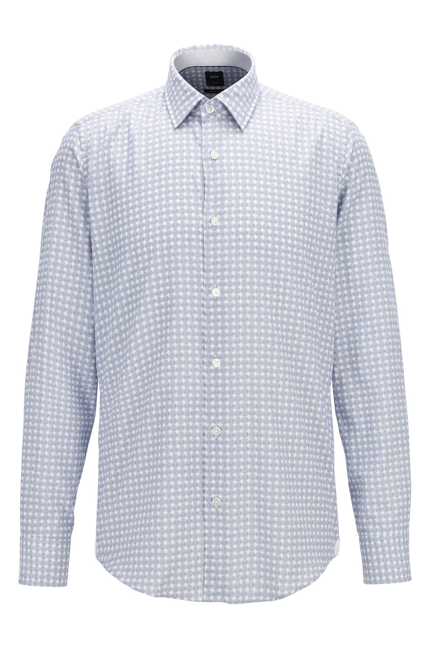 Circle-Print Flannel Sport Shirt, Regular Fit | T-Landon
