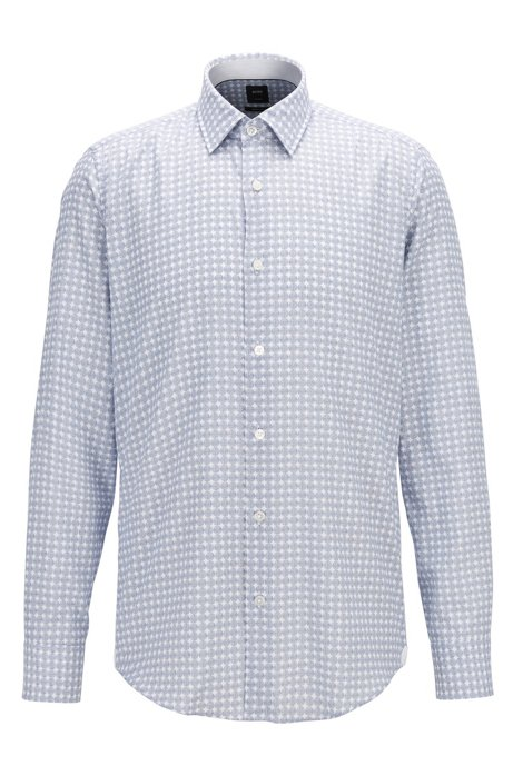 02ab86273 BOSS - Circle-Print Flannel Sport Shirt, Regular Fit | T-Landon