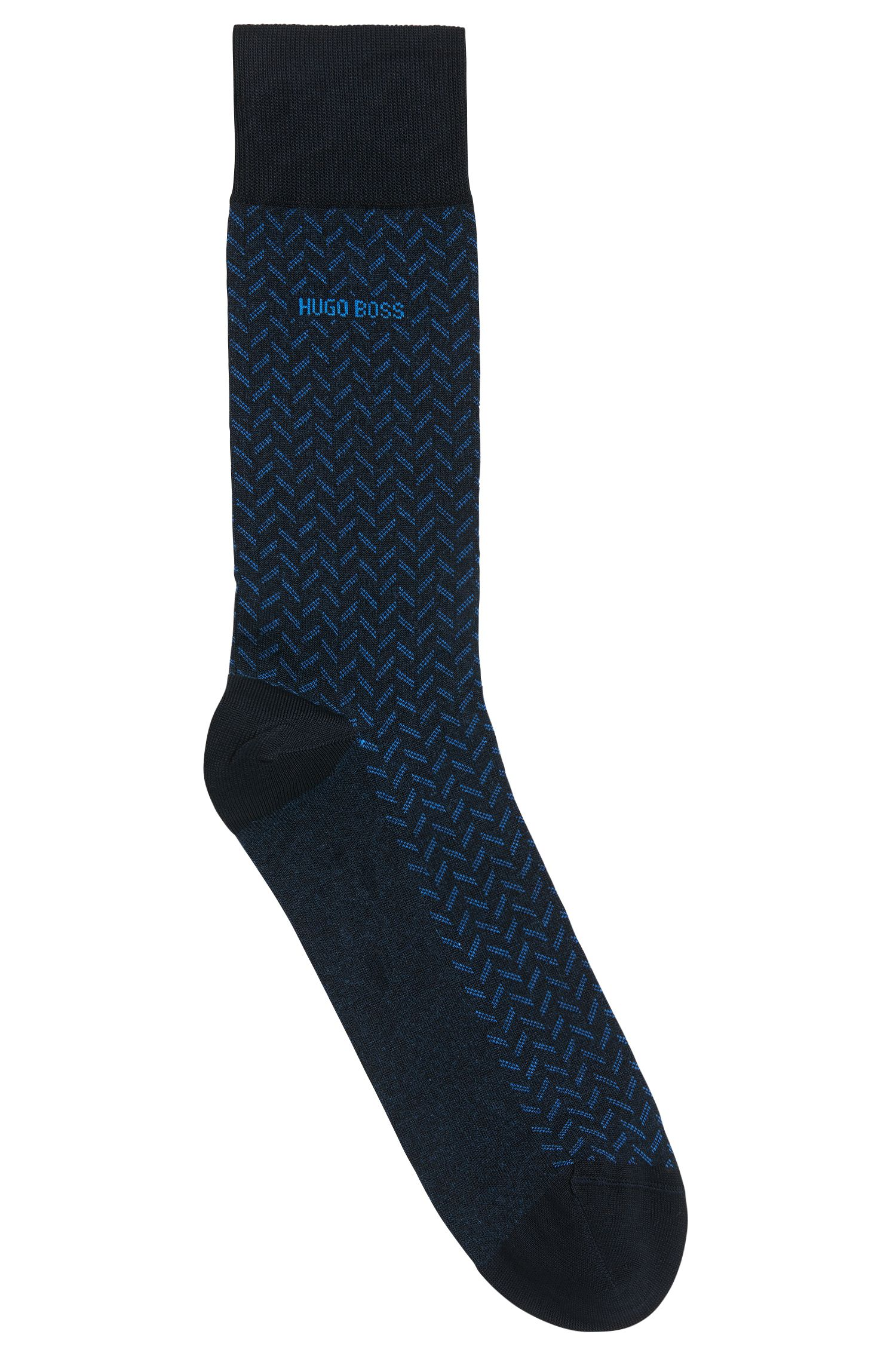 Chevron Striped Stretch Cotton Socks | RS MiniPattern US MC