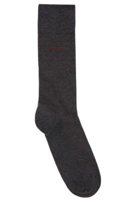 Dotted Stretch Cotton Socks | RS Dot US CC, Charcoal