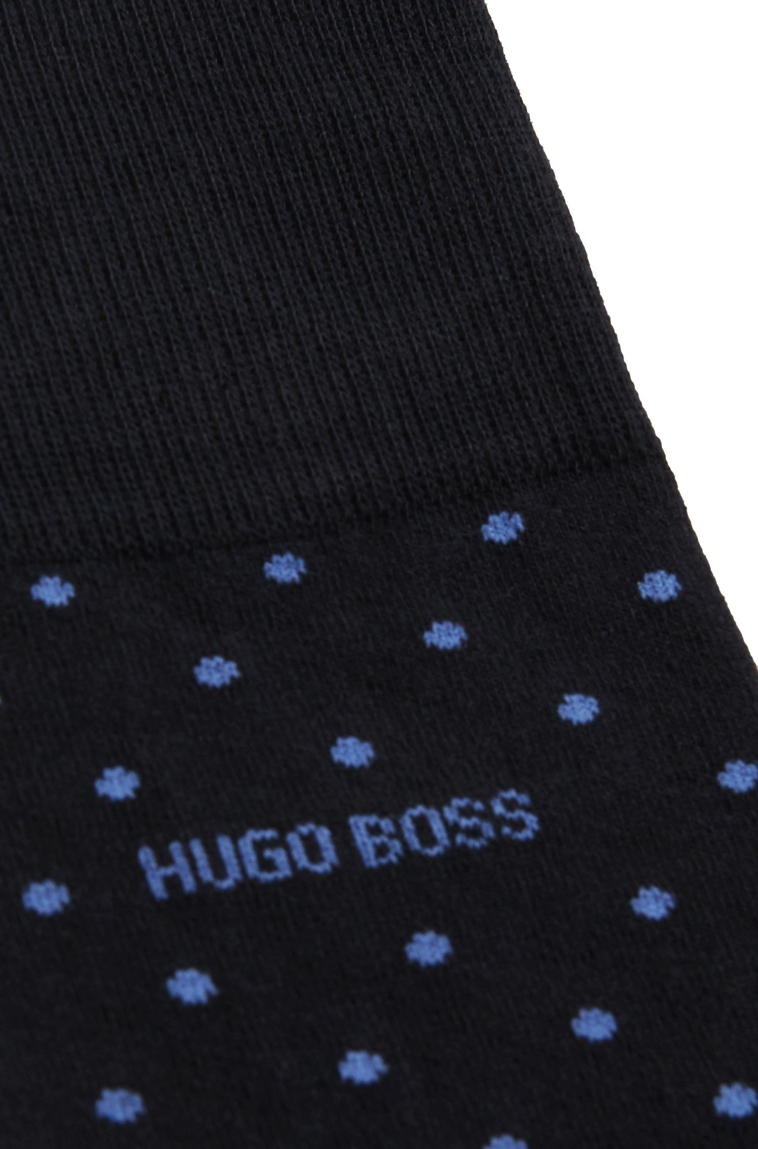 Dotted Stretch Cotton Socks | RS Dot US CC, Dark Blue