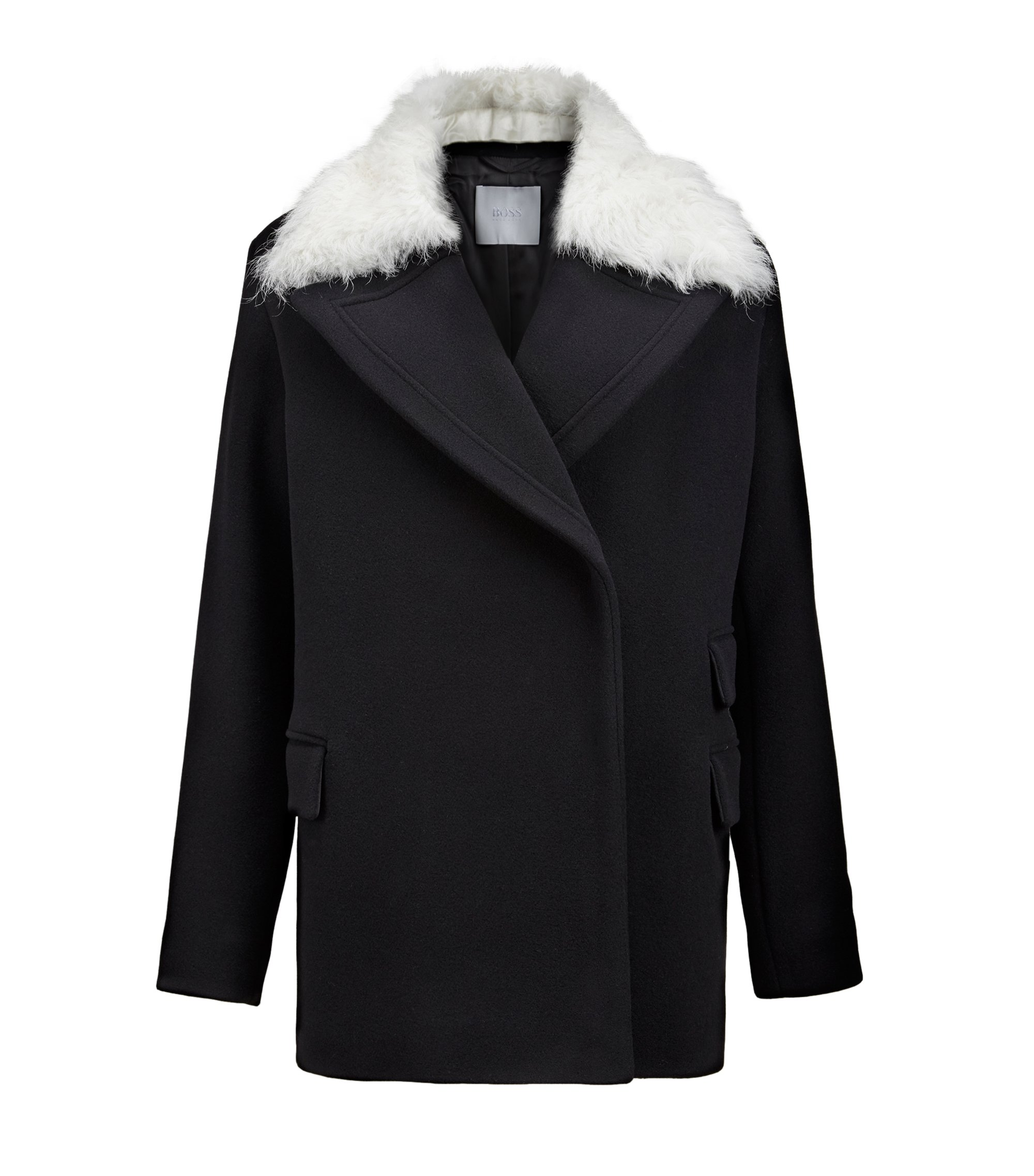 Shearling Wool-Cashmere Jacket | FS Palisena, Black
