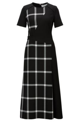 'FS Dilarea' | Windowpane Dress, Patterned