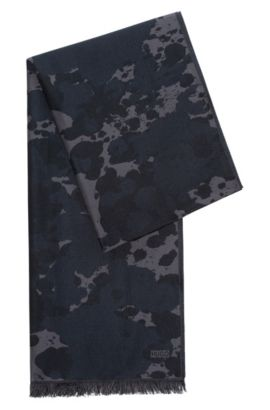 Rorschach-Print Wool Blend Scarf | Men Z, Patterned