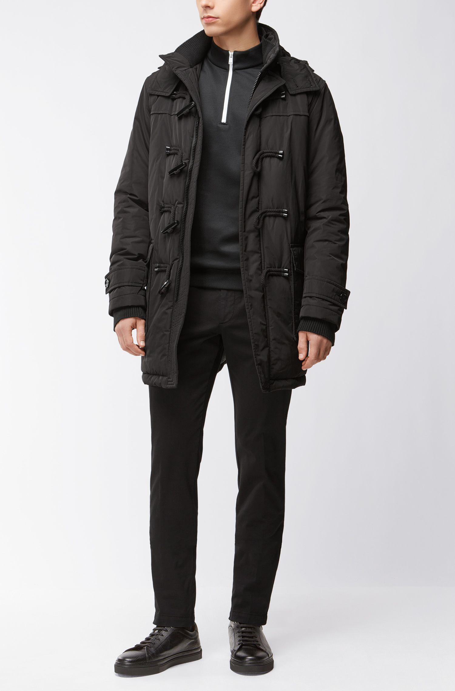 Jersey Half-Zip Sweater | Siegal, Black