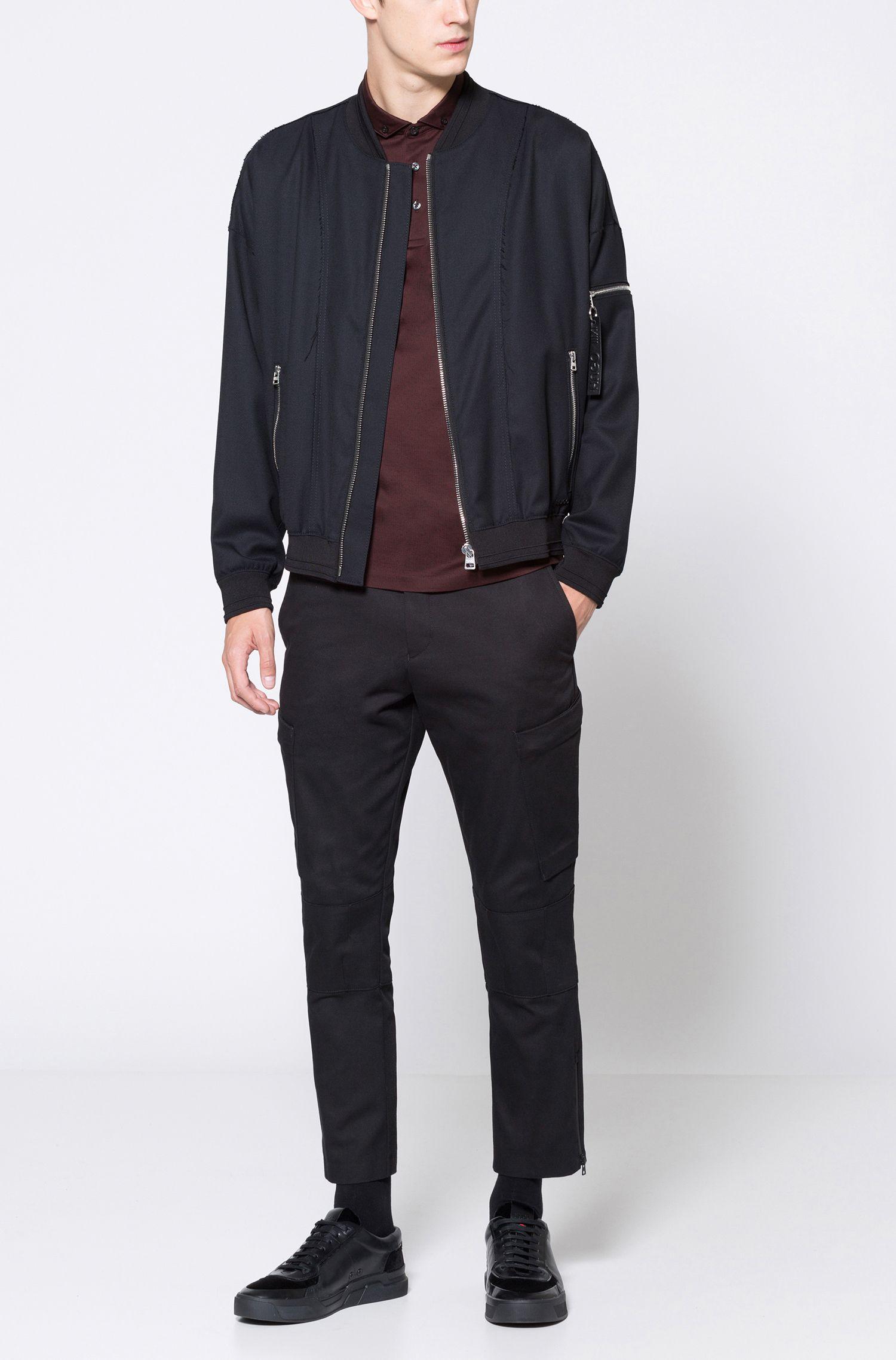 Jacquard Mercerized Cotton Polo Shirt, Regular Fit | Dogart