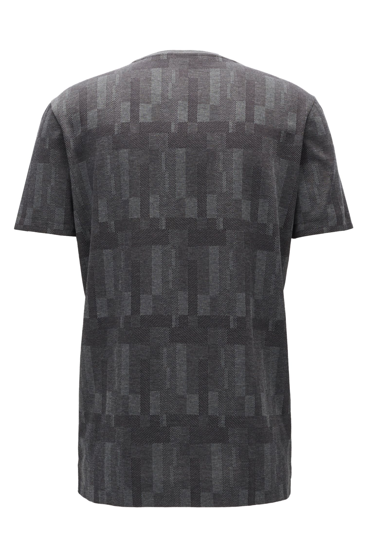 Patterned Egyptian Cotton T-Shirt | Tiburt