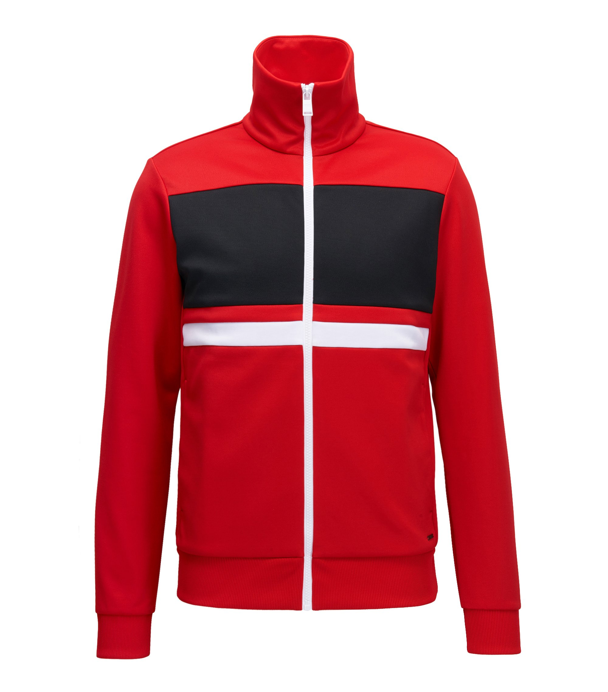 Stretch Cotton Jacket | Soule, Red