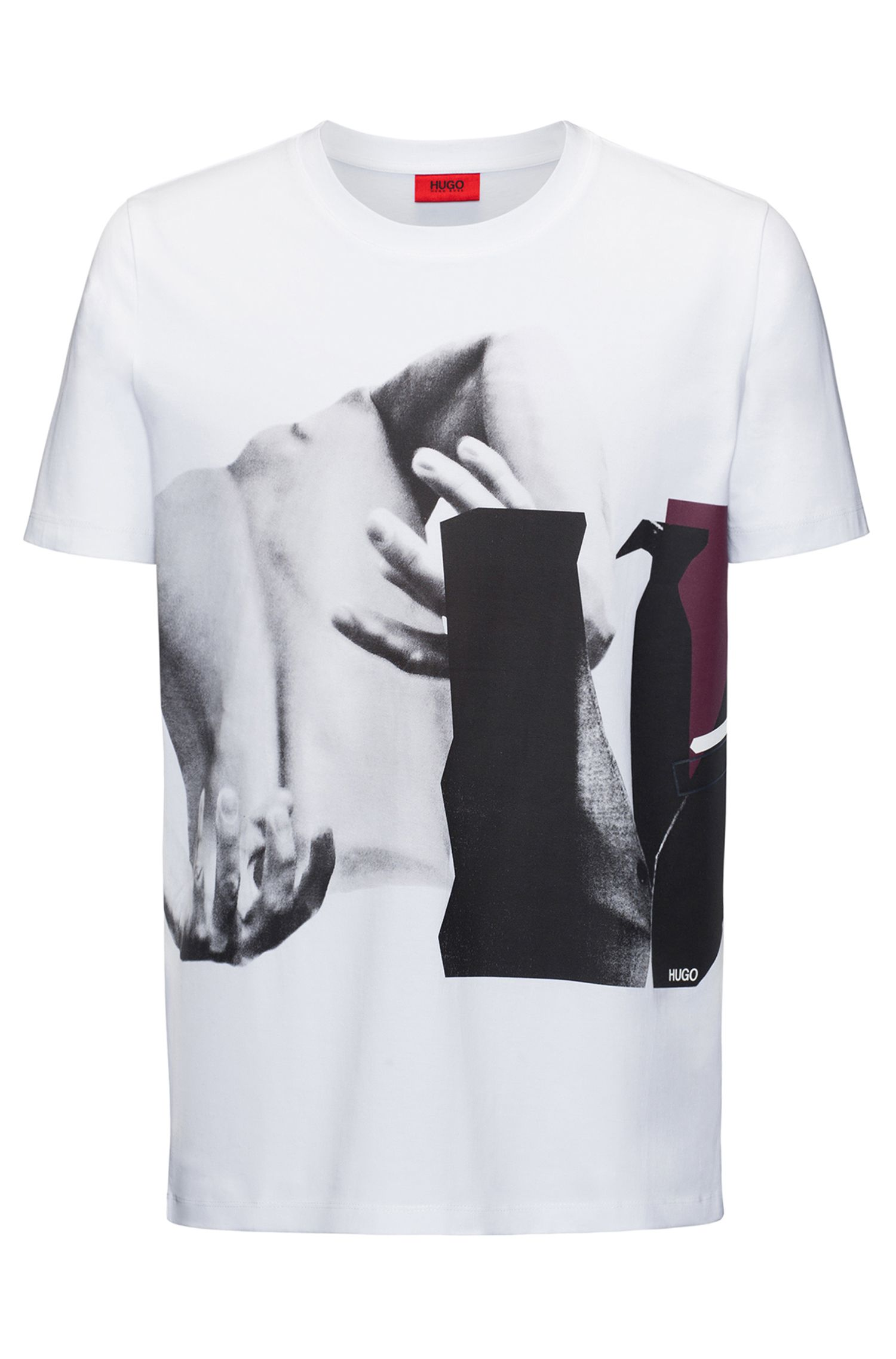 Printed Cotton T-Shirt | Dack, White