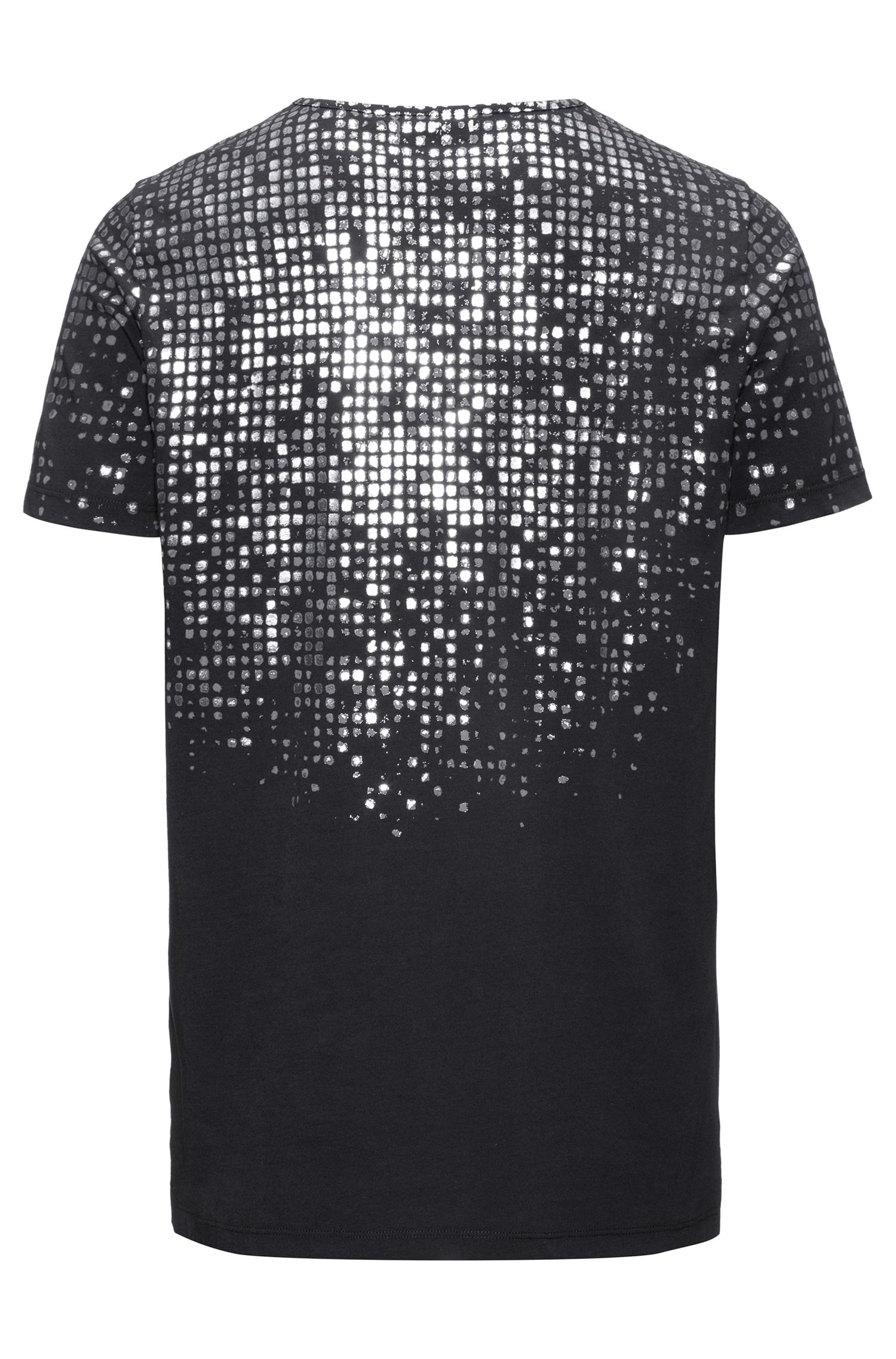 Foil-Print Cotton T-Shirt | Dilver, Black