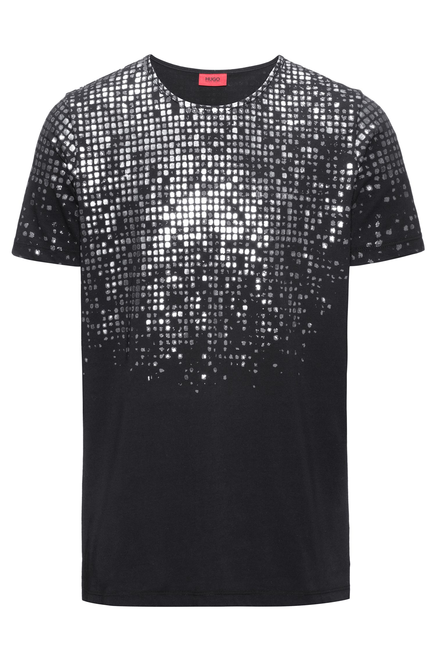 Foil-Print Cotton T-Shirt | Dilver