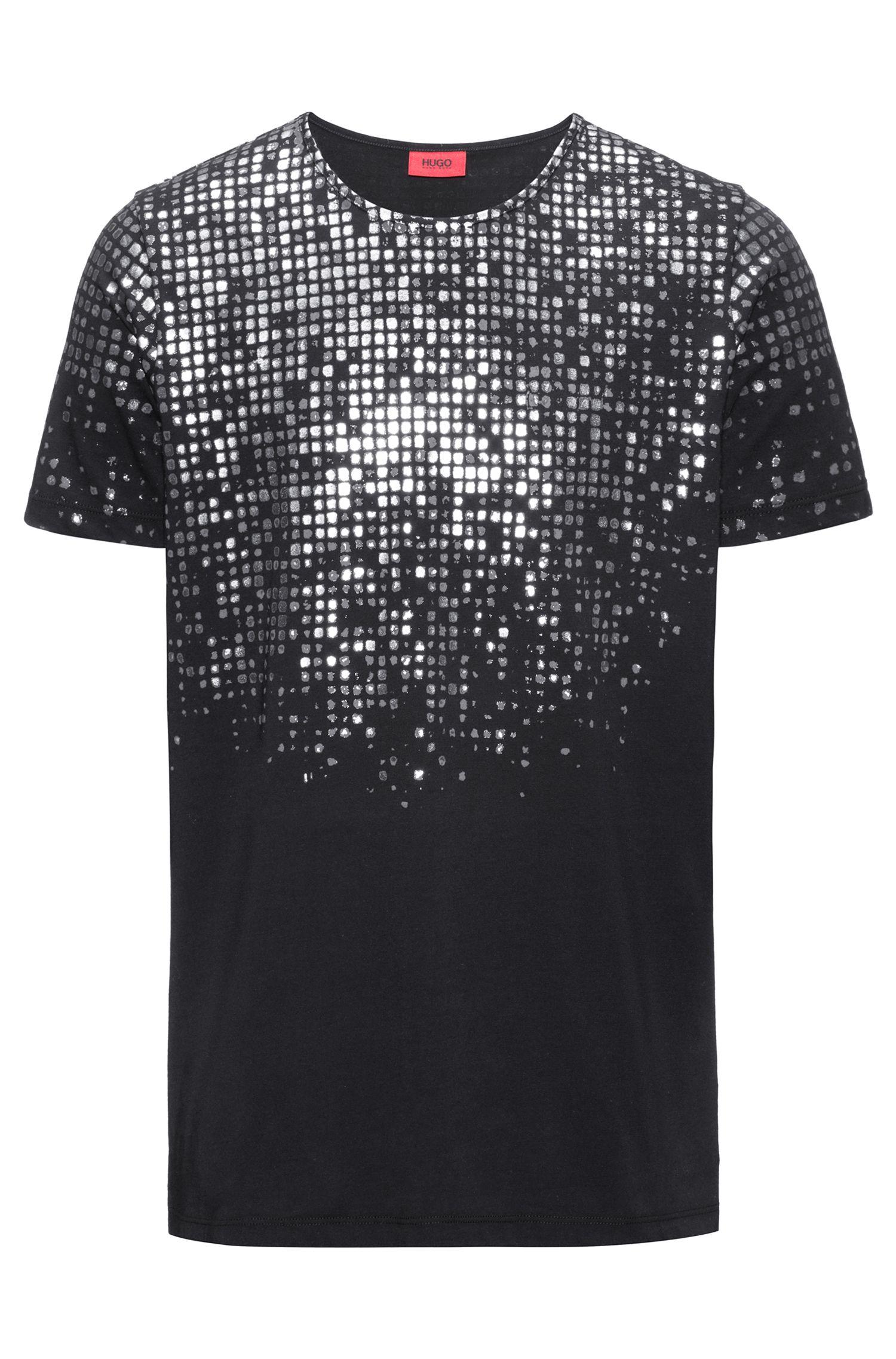 Foil-Print Cotton T-Shirt | Dilver